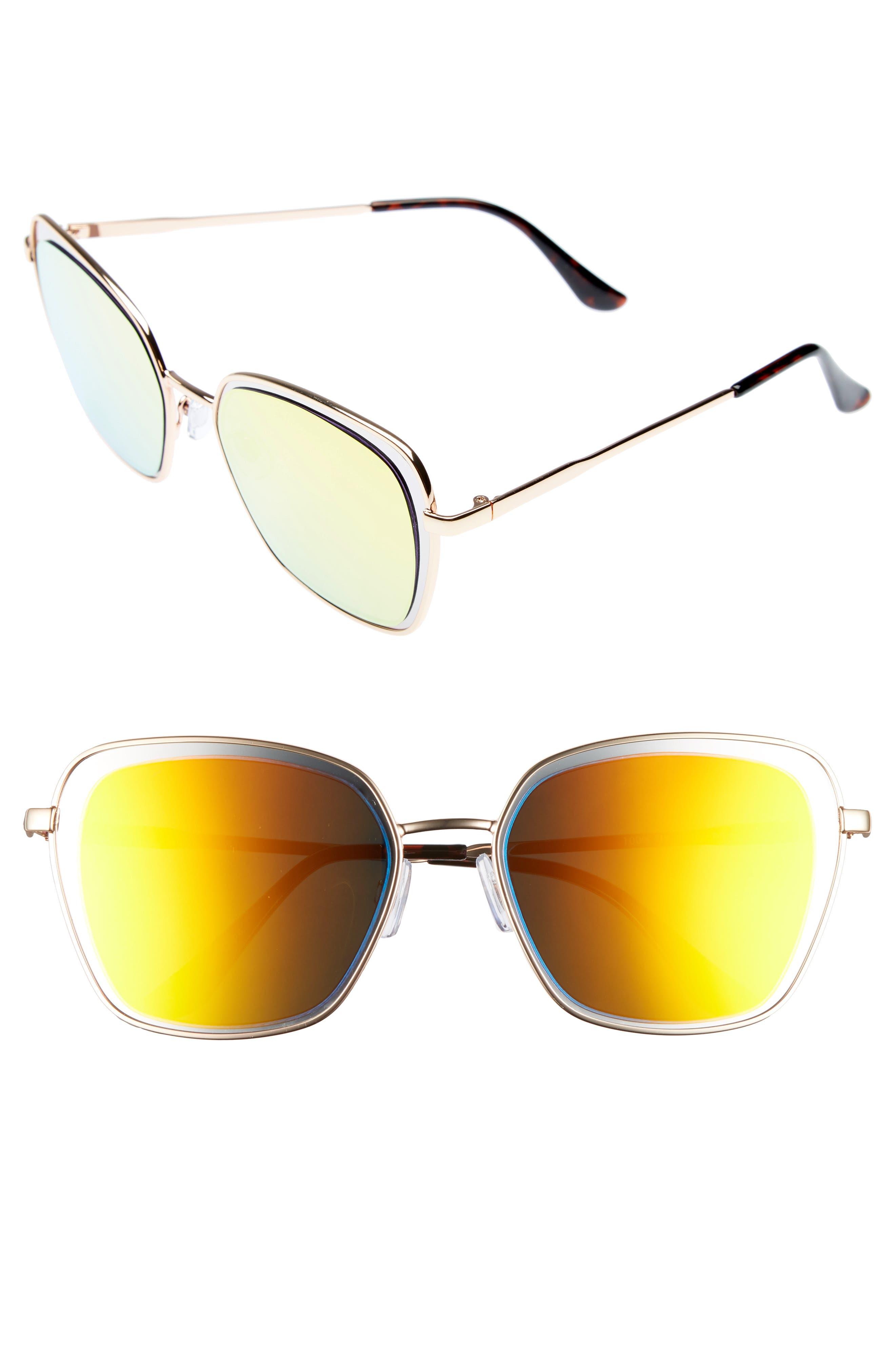 Leith 55mm Square Sunglasses