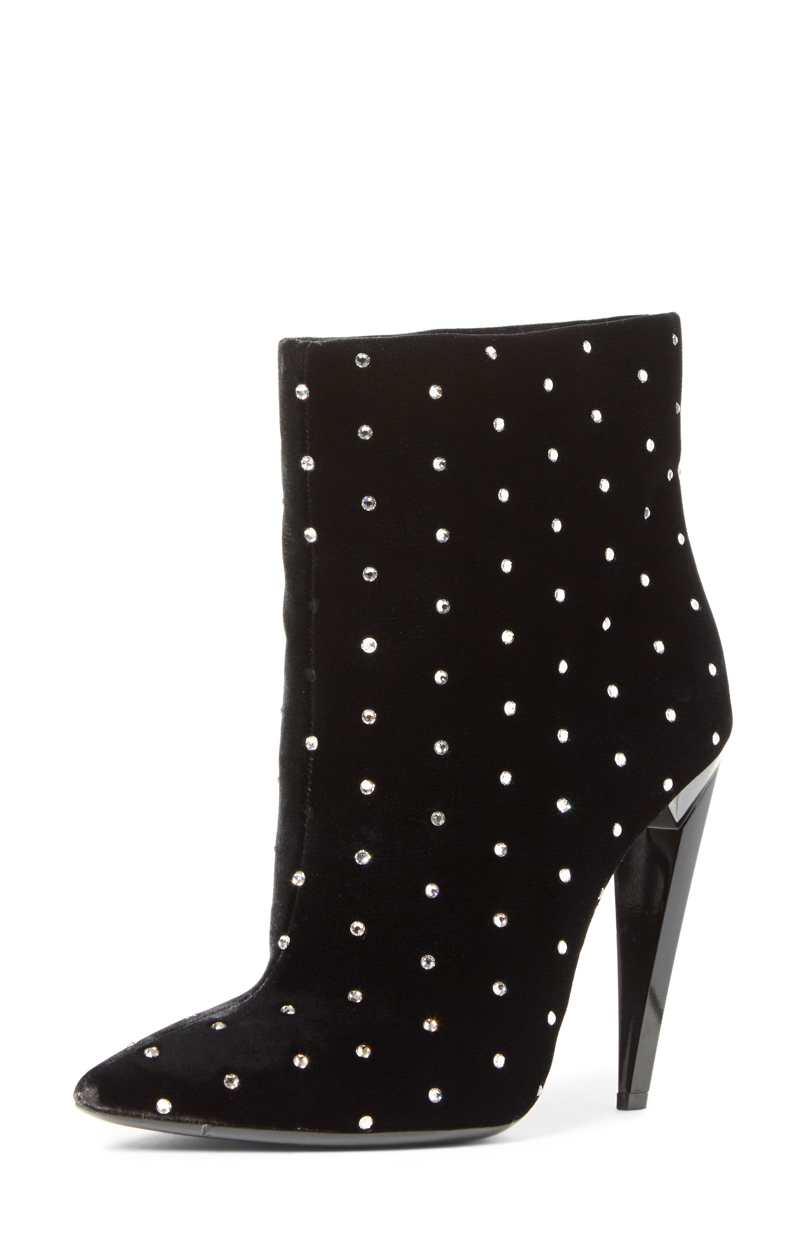 Saint Laurent Freja Embellished Broken Heel Bootie (Women)
