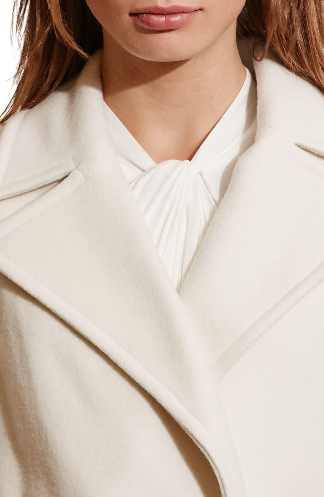 Alternate Image 3  - Lauren Ralph Lauren Wool Blend Wrap Coat (Regular & Petite) (Online Only)