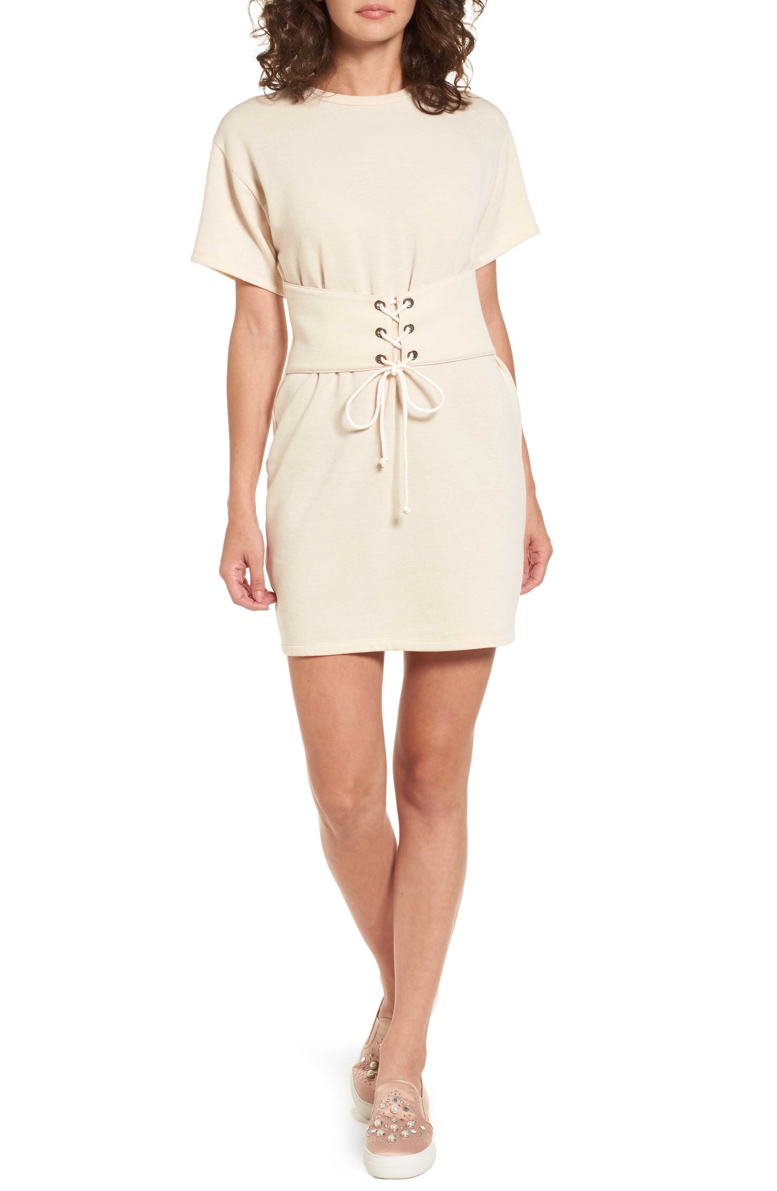 Lush Corset T-Shirt Dress