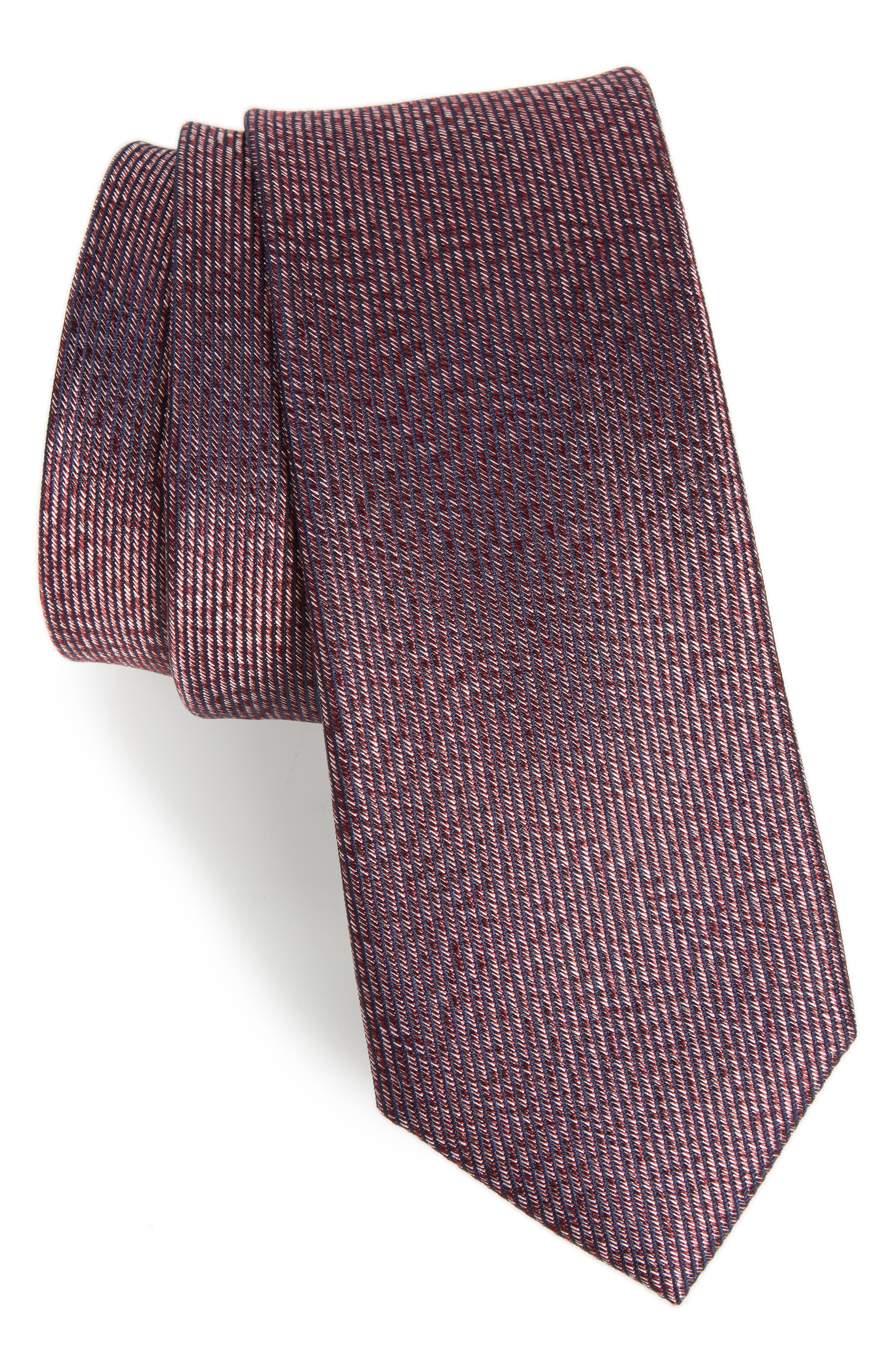 Calibrate Heathered Solid Silk Tie