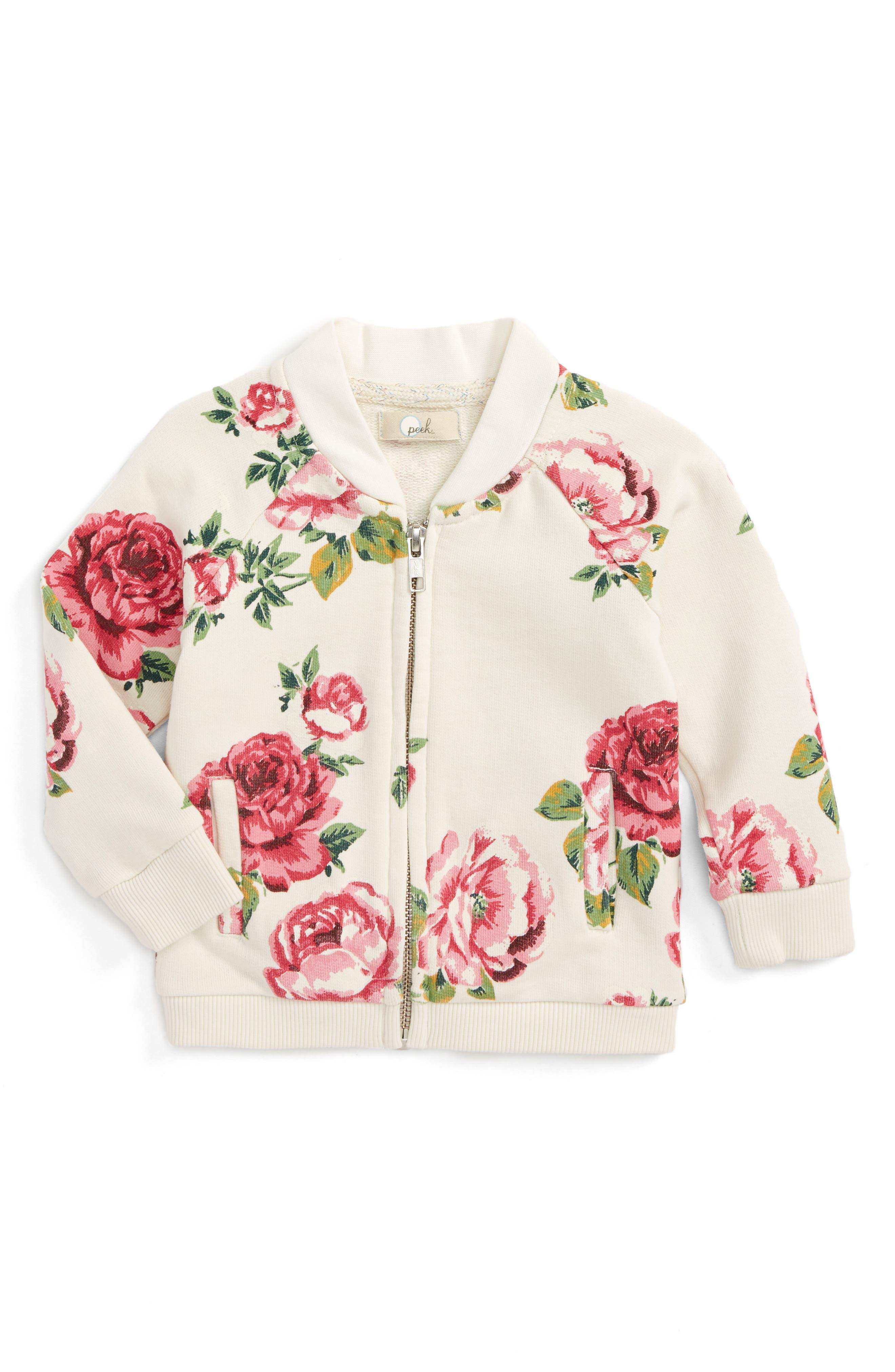 Peek Floral Bomber Jacket (Baby Girls)