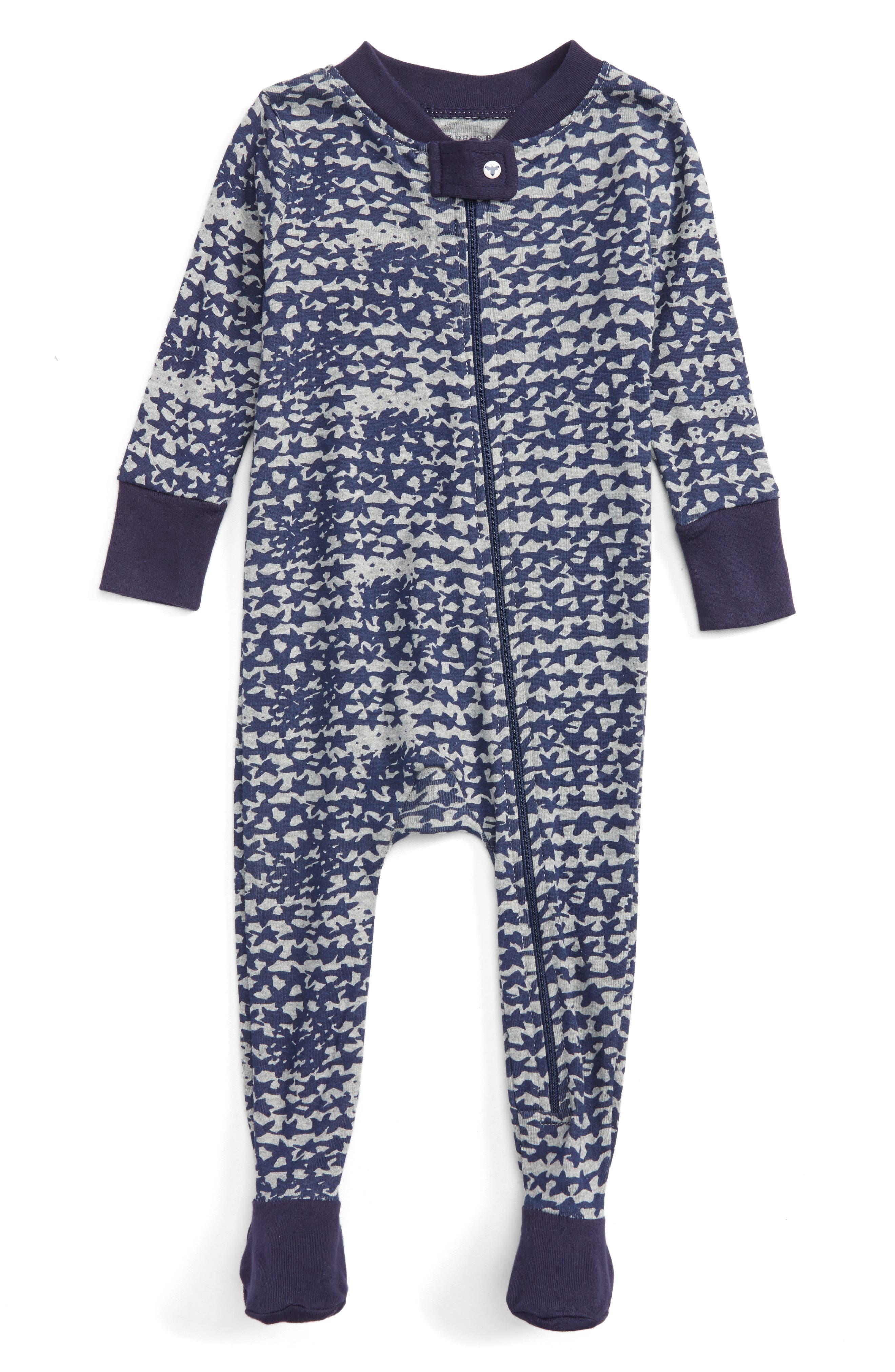Burt's Bees Baby Star Cluster Organic Cotton Fitted One-Piece Pajamas (Baby Boys)