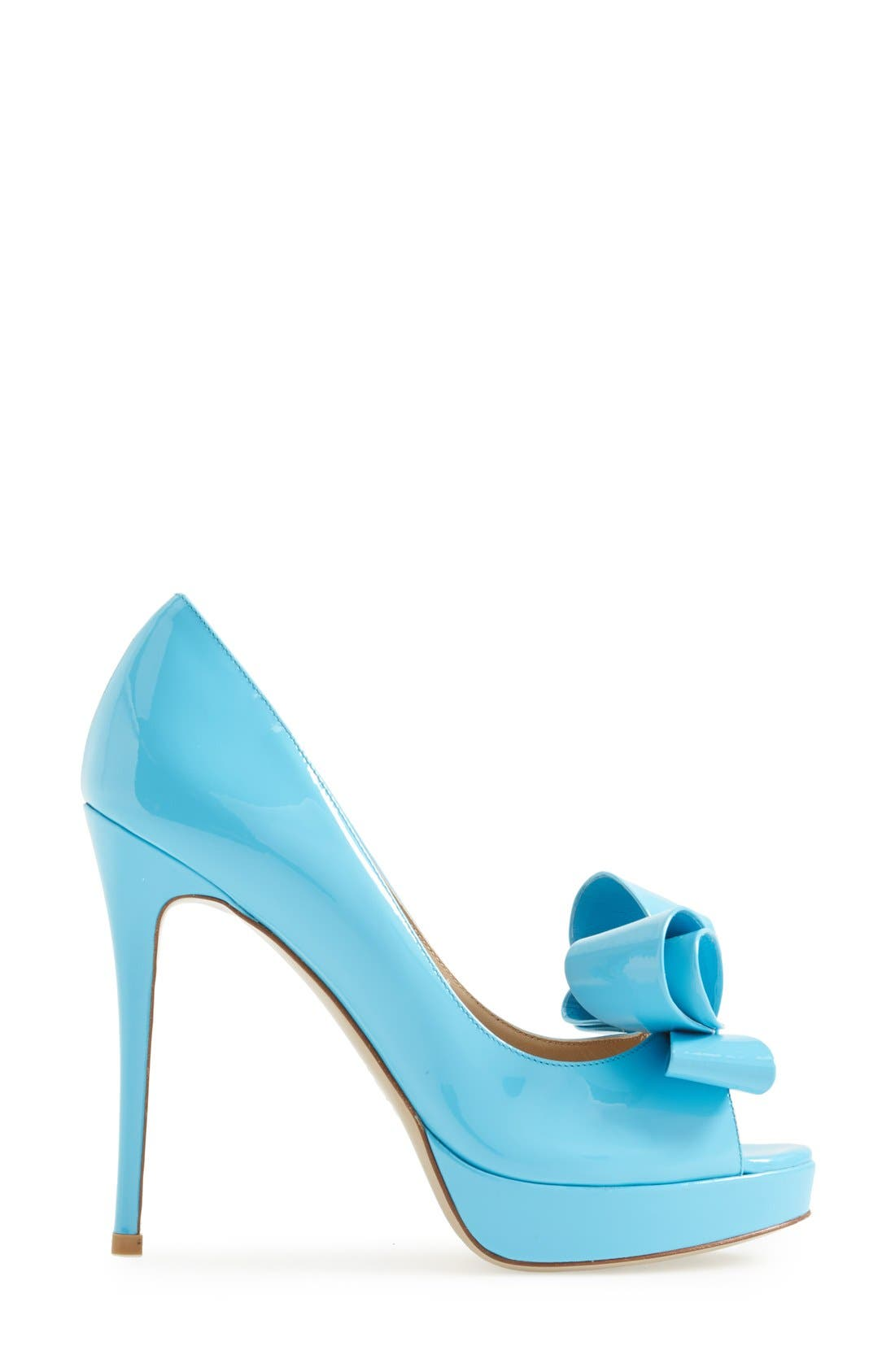 Alternate Image 4  - Valentino 'Couture' Patent Leather Platform Pump (Women)