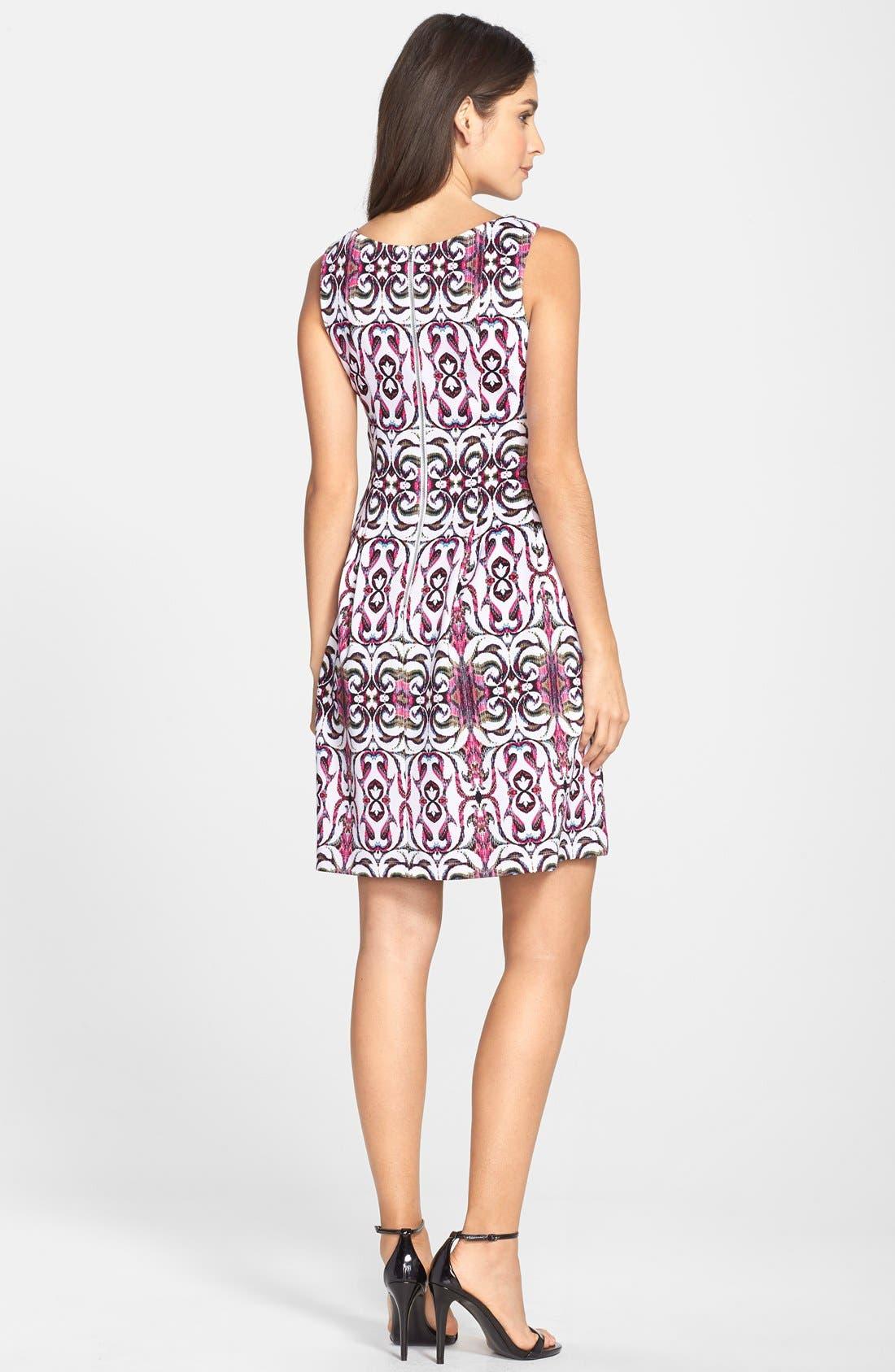 Alternate Image 2  - Gabby Skye Print Scuba Fit & Flare Dress