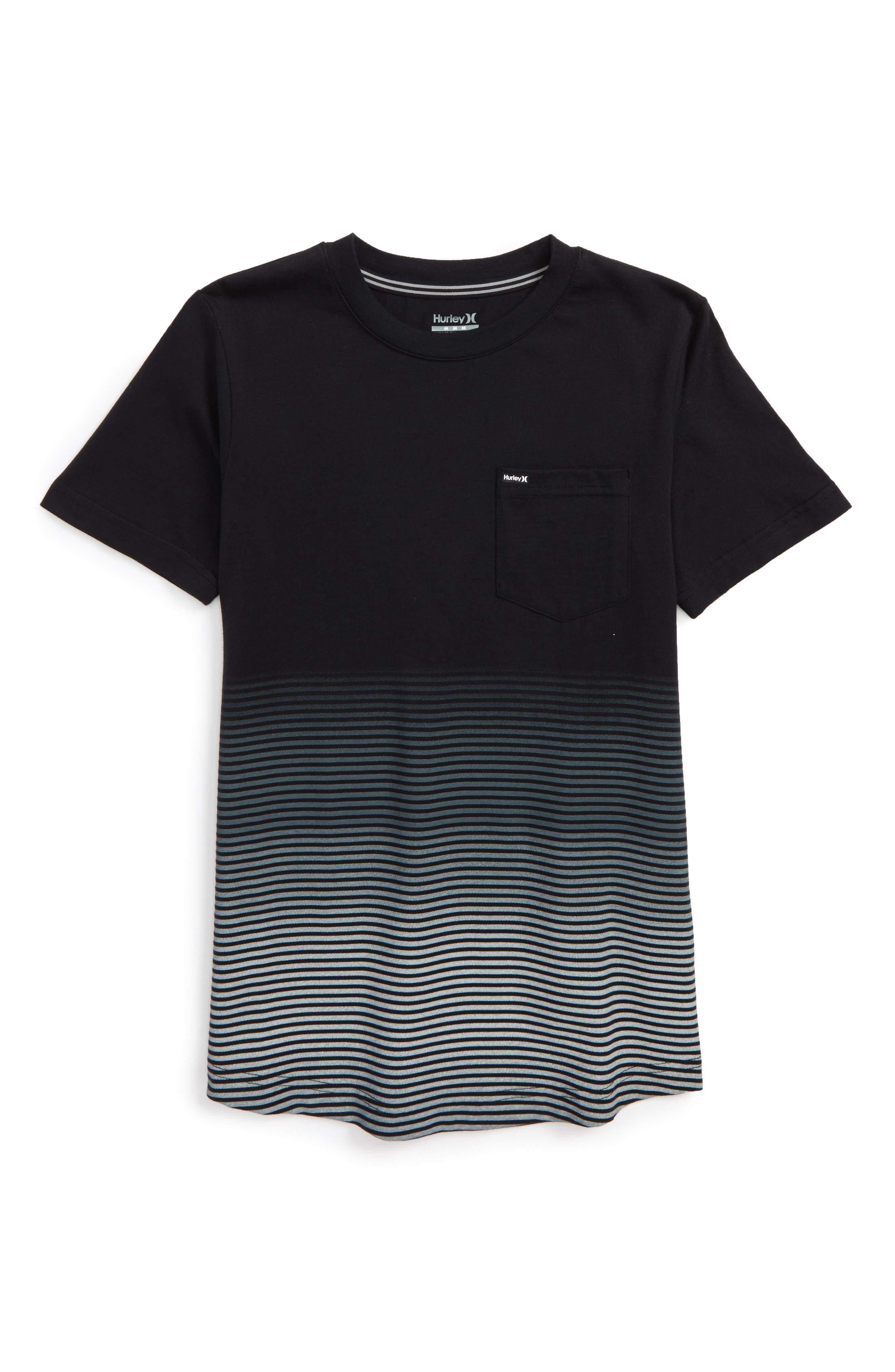 Hurley Ombré Stripe T-Shirt (Big Boys)