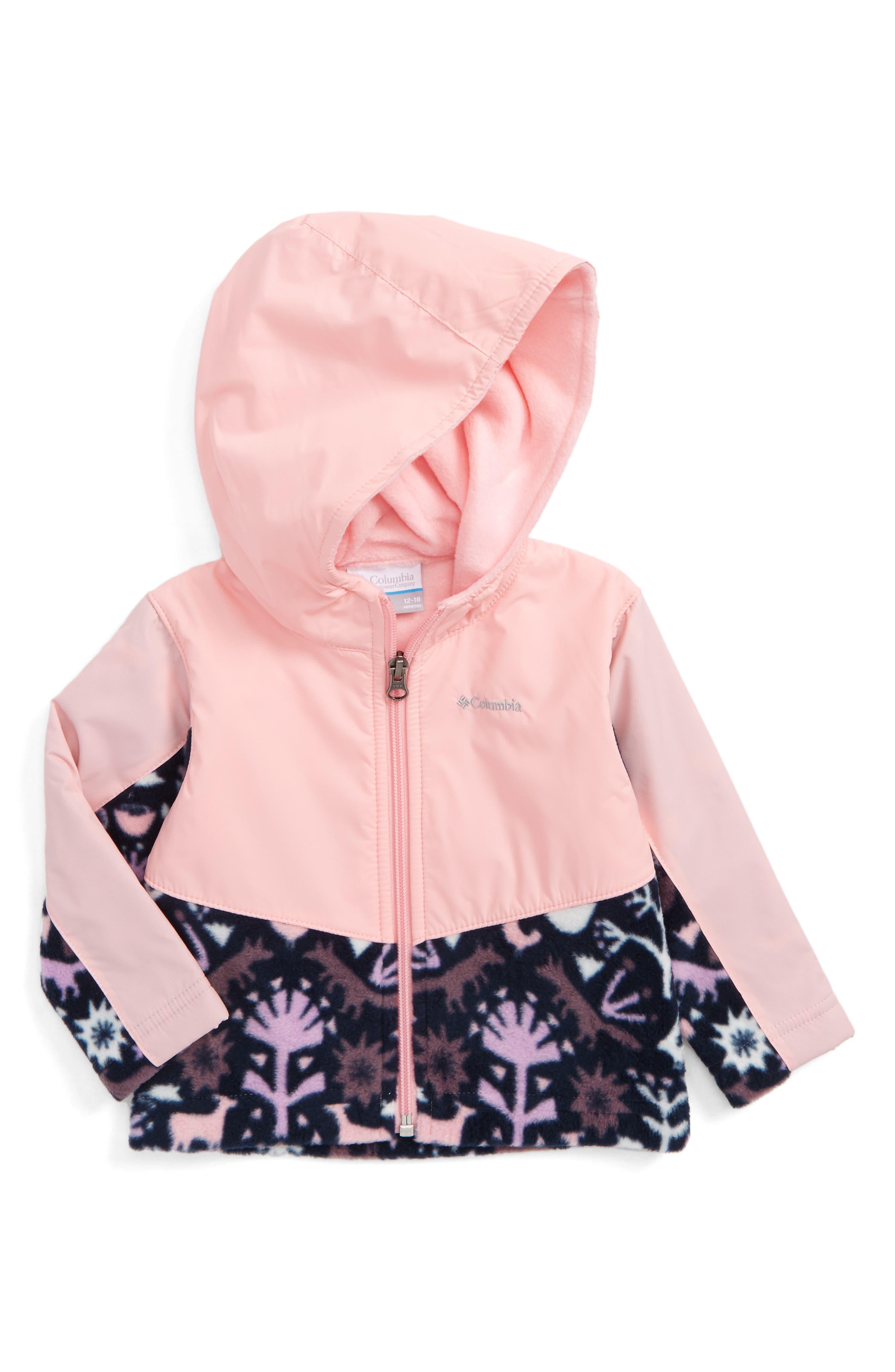 Columbia Steens Mountain™ Overlay Water Resistant Hooded Jacket (Baby Girls)