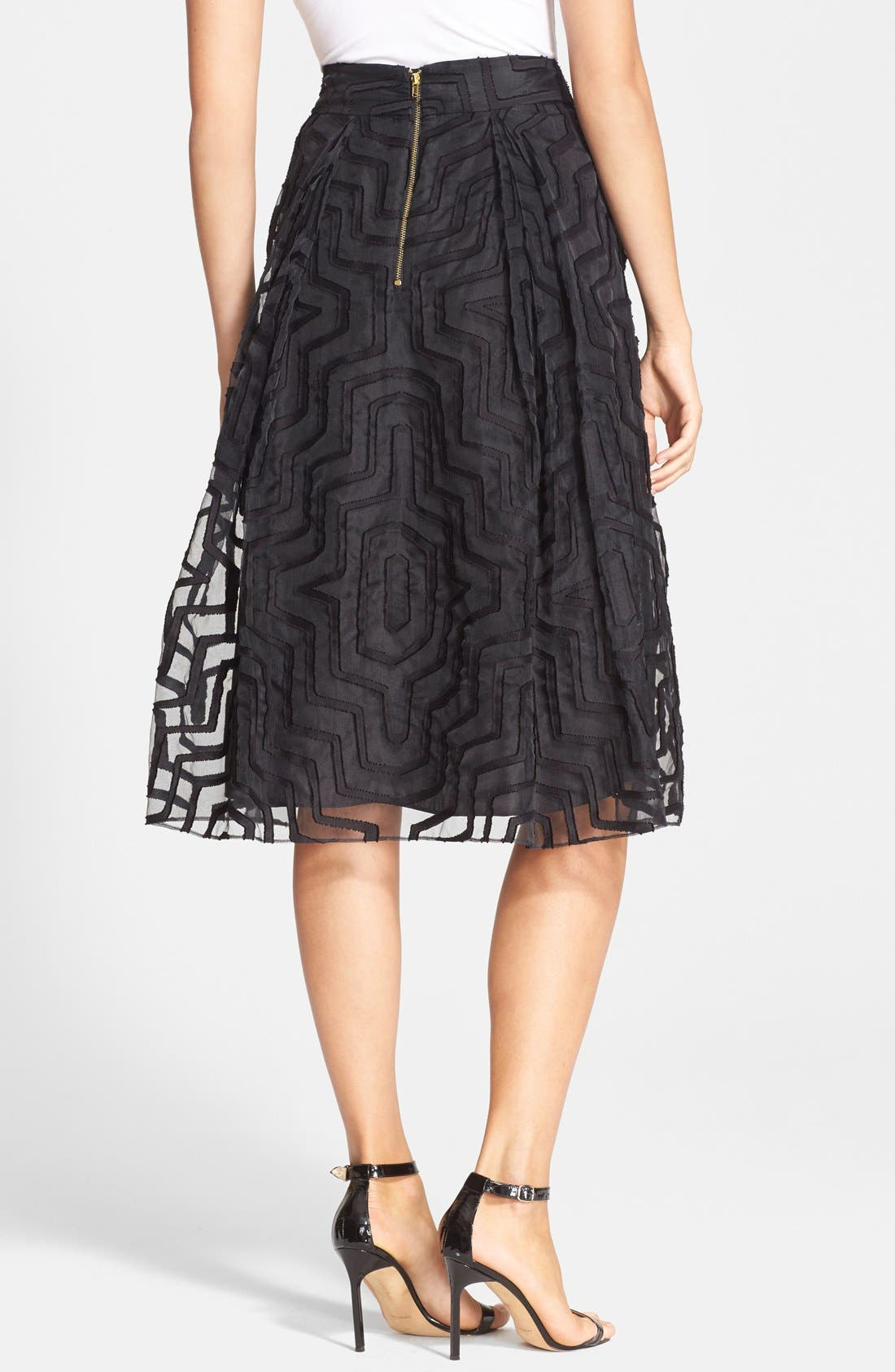 Alternate Image 2  - Milly Fil Coupe A-Line Midi Skirt