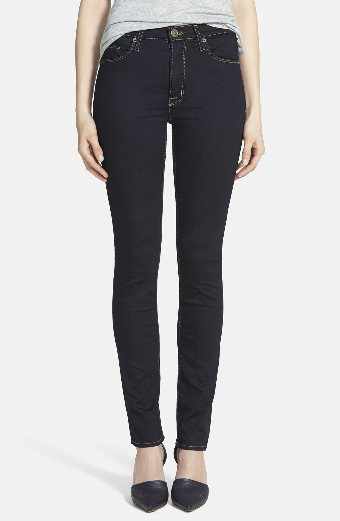 Alternate Image 1  - Hudson Jeans 'Tilda' Mid Rise Straight Leg Jeans (Storm)