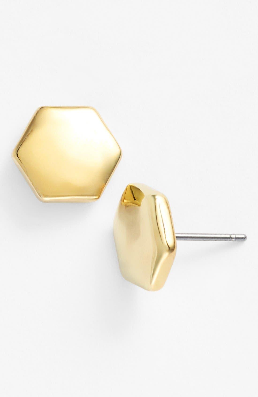Alternate Image 1 Selected - Lauren Ralph Lauren Hexagon Stud Earrings