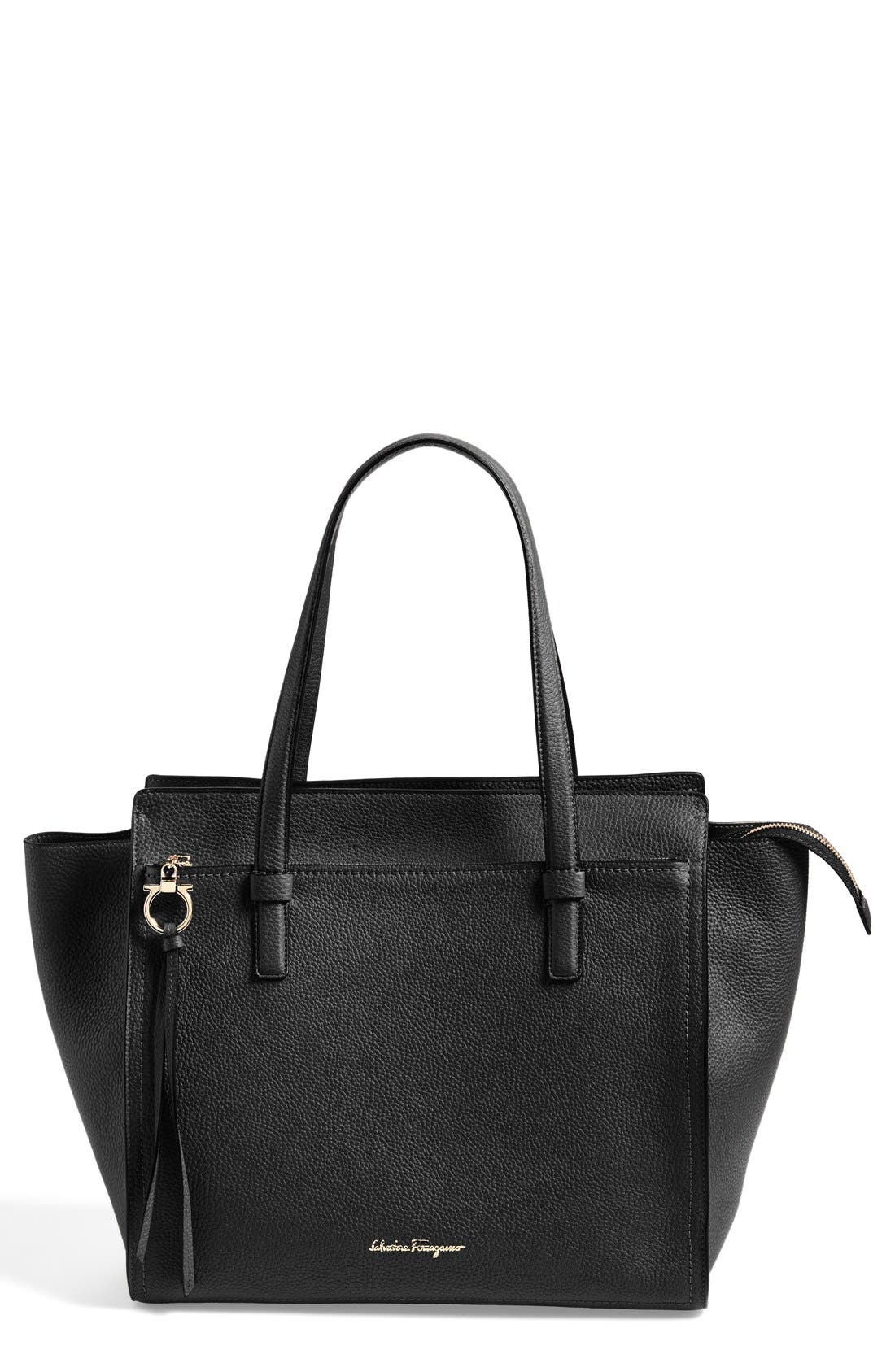 SALVATORE FERRAGAMO 'Fill Up - Large' Leather Tote