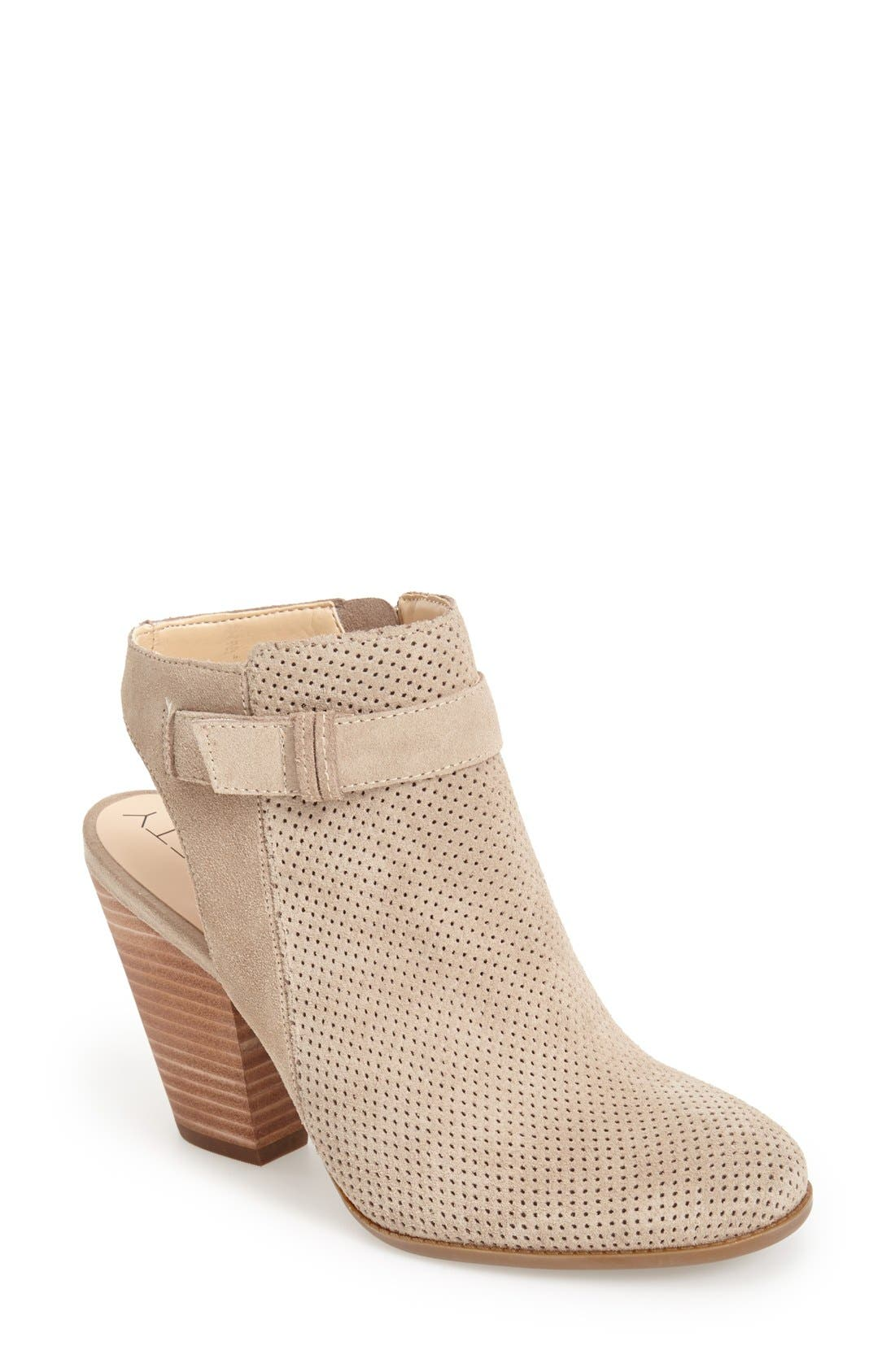 Alternate Image 1 Selected - Sole Society 'Perin' Perforated Suede Bootie (Women)