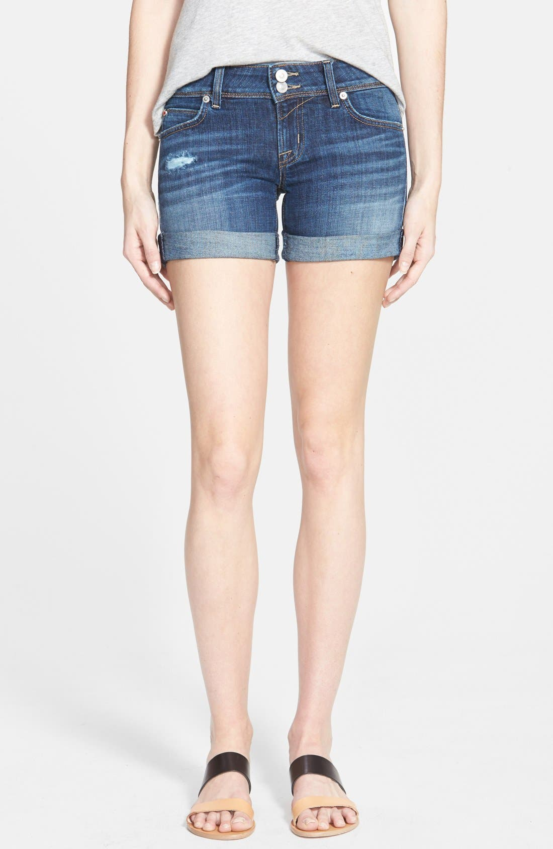 Alternate Image 1 Selected - Hudson Jeans 'Croxley' Cuffed Denim Shorts (Connection)
