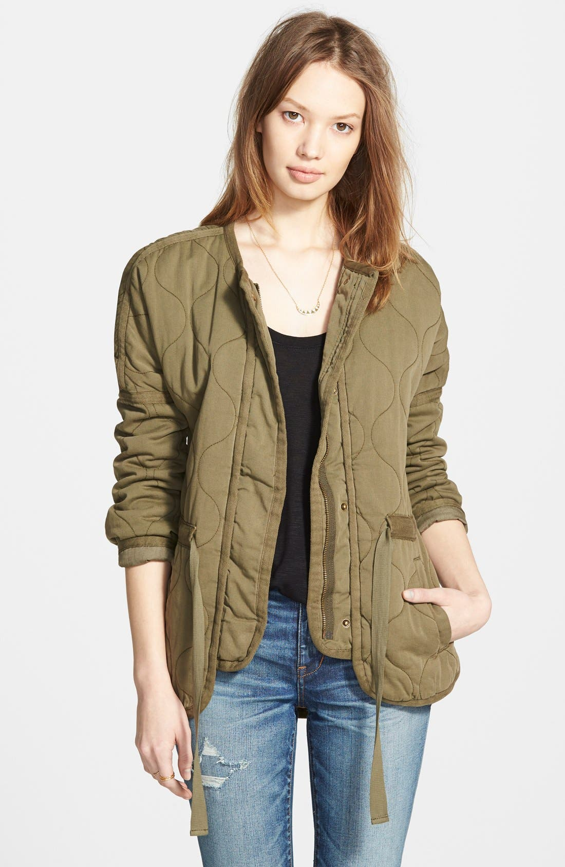 Main Image - Madewell Quilted Drawstring Jacket
