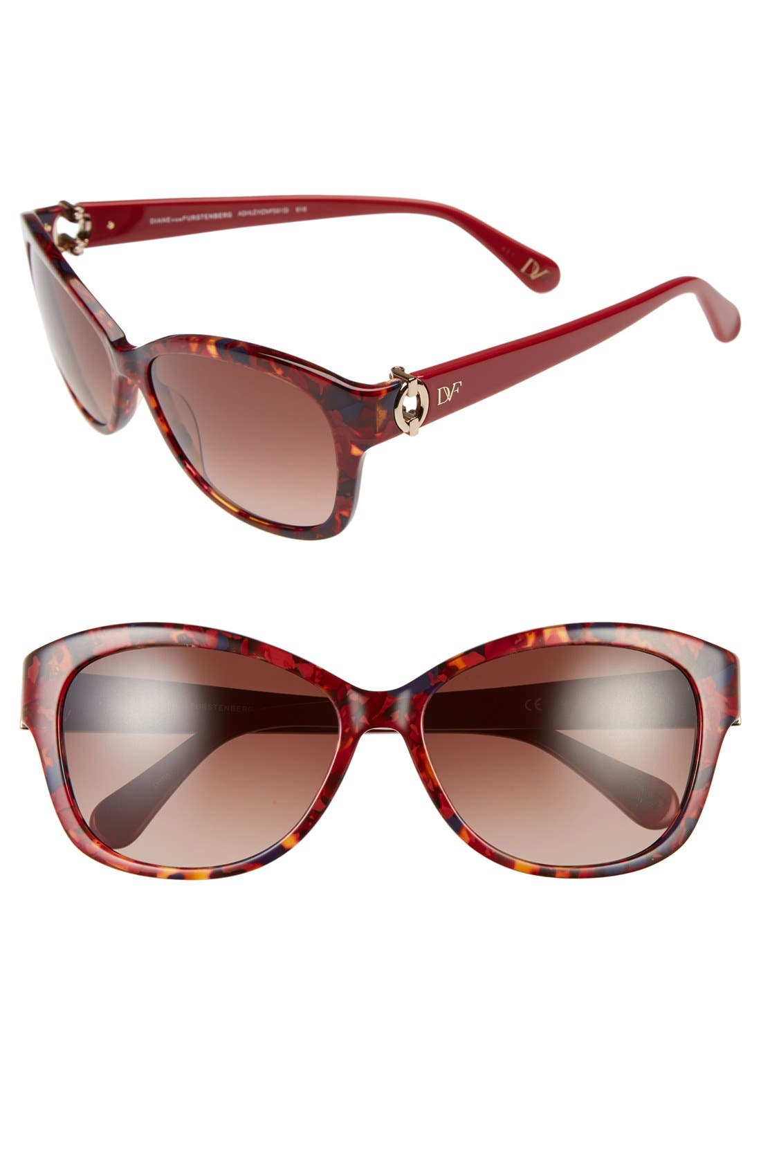 Alternate Image 1 Selected - Diane von Furstenberg 'Ashley' 58mm Sunglasses