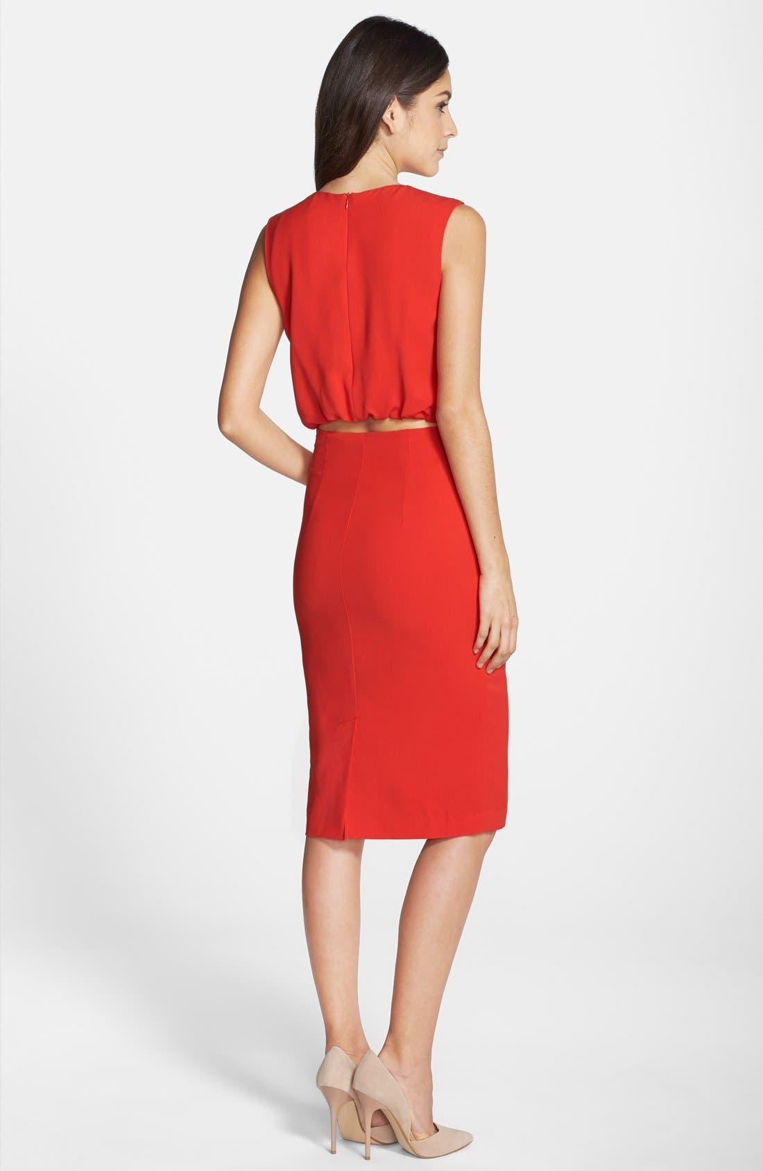 Alternate Image 2  - Clove Back Cutout Pleated Blouson Dress (Nordstrom Exclusive)