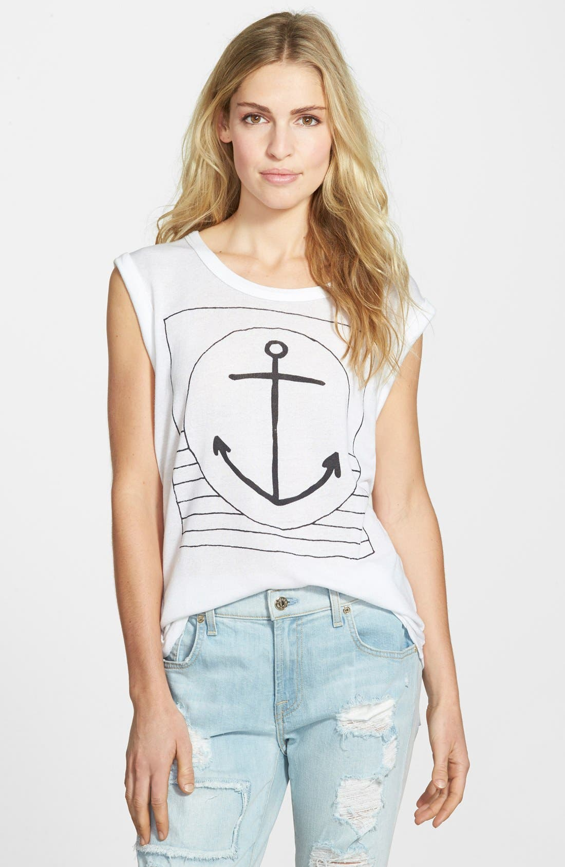 Alternate Image 1 Selected - Sundry Anchor Muscle Tee