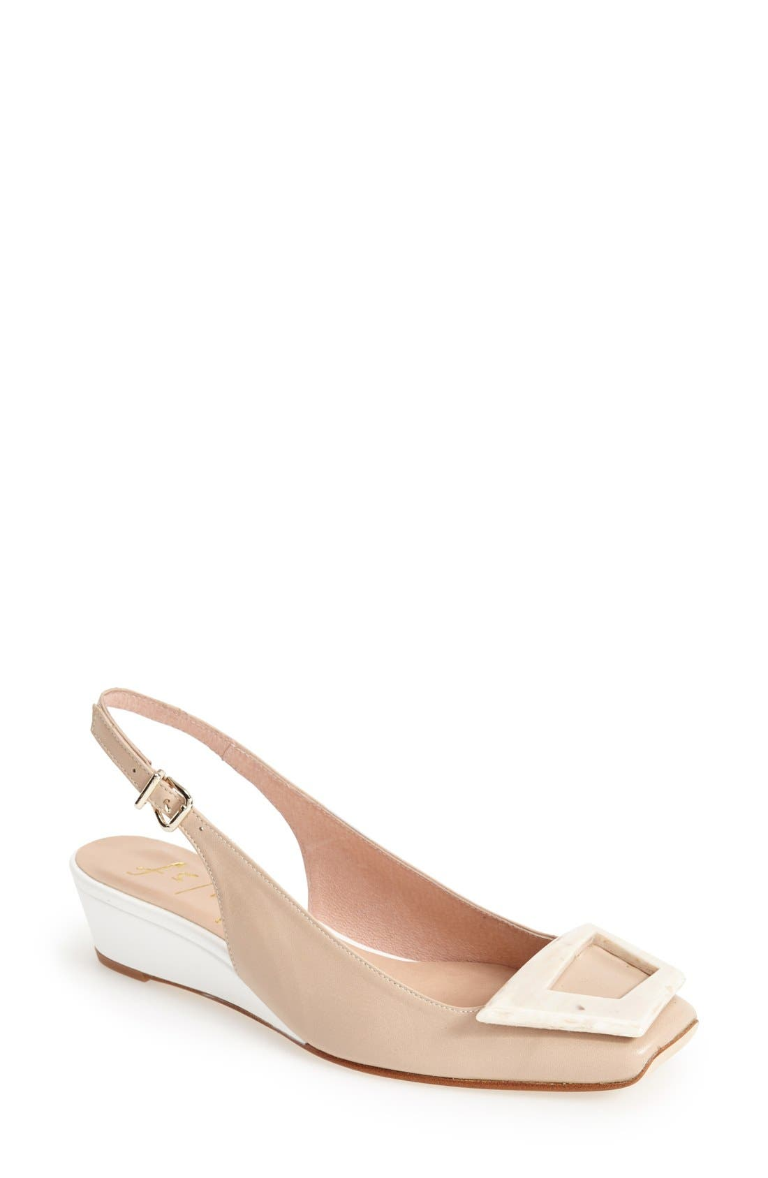 Alternate Image 1 Selected - French Sole 'Noter' Slingback Wedge Pump (Women)