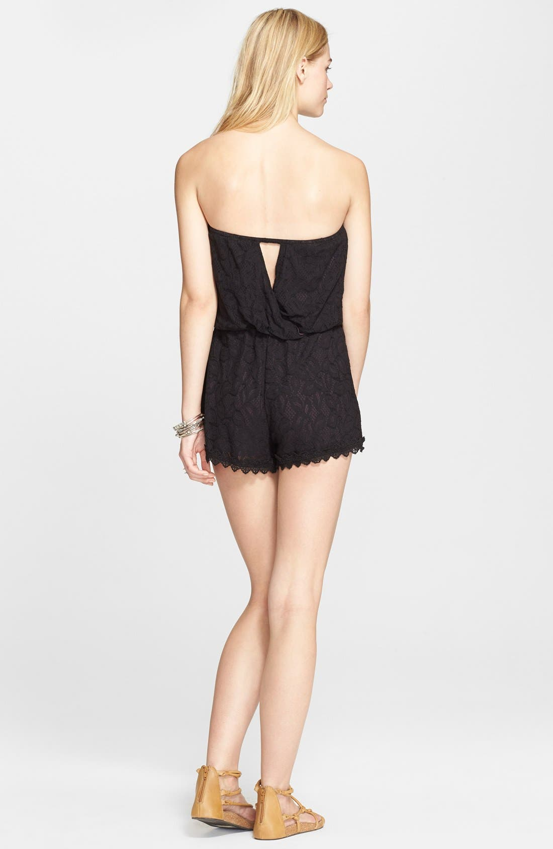 Alternate Image 2  - Free People 'Tahlia' Strapless Lace Romper
