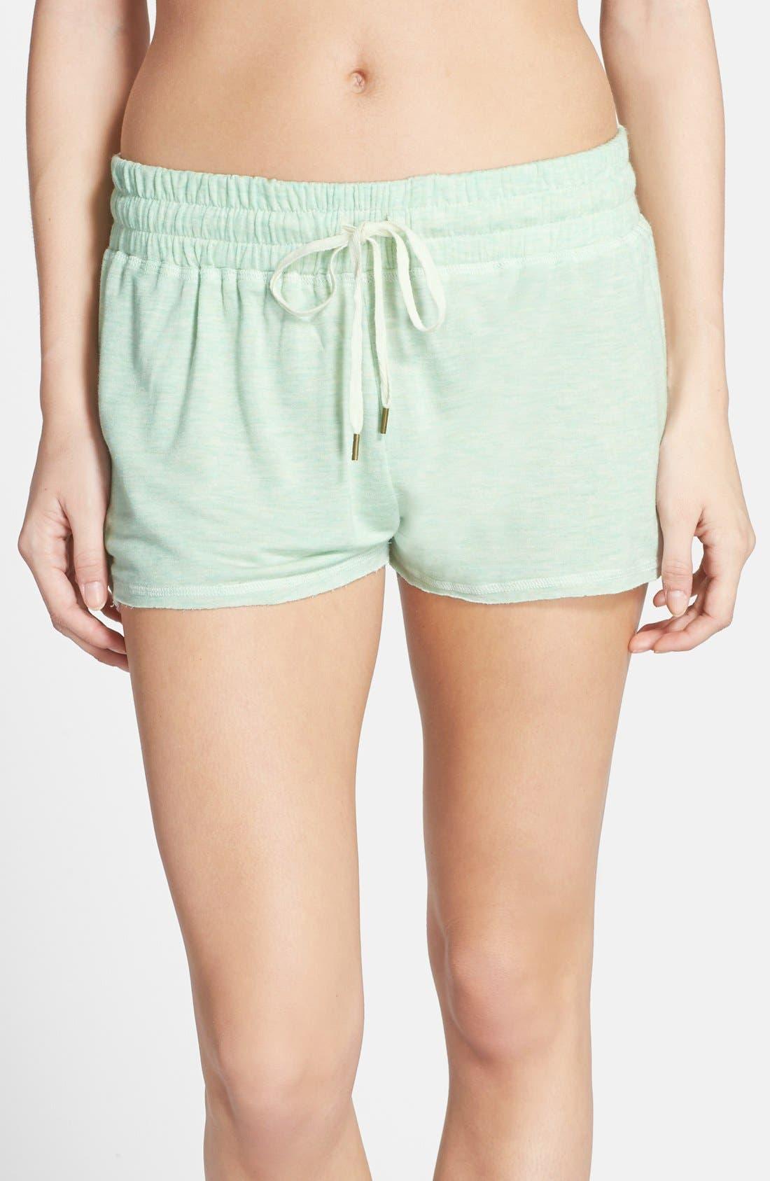 Main Image - Splendid Lace Trim Stripe Sleep Shorts