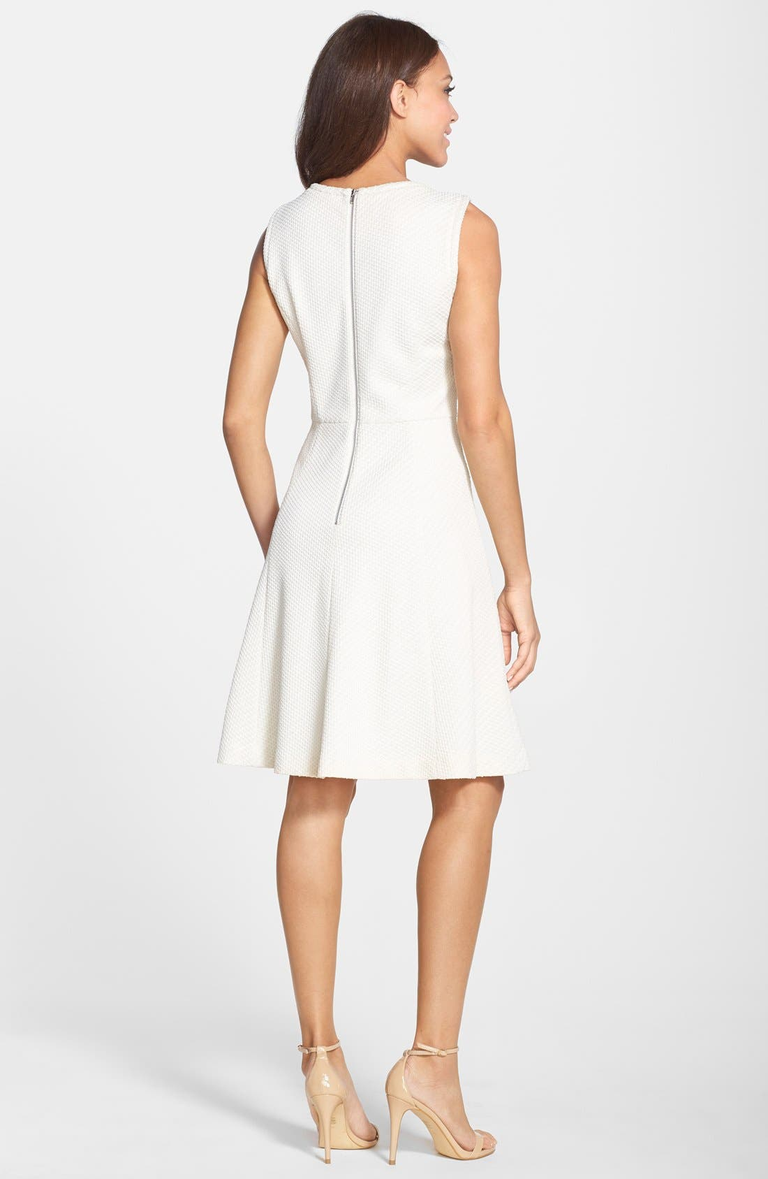 Alternate Image 2  - Maggy London Bonded Mesh Fit & Flare Dress