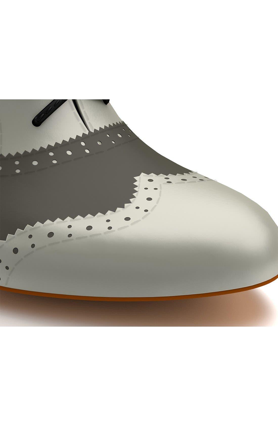 Alternate Image 6  - Shoes of Prey Colorblock Genuine Calf Hair Oxford Bootie (Women)