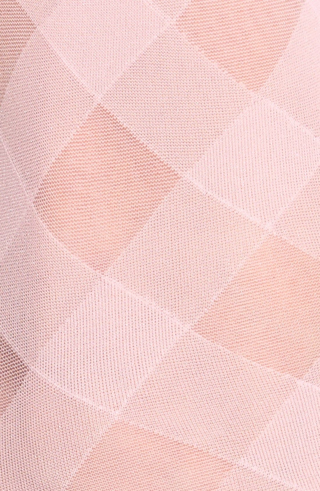 Alternate Image 2  - Hue 'Diagonal Ribbon' Sheer Ankle Socks