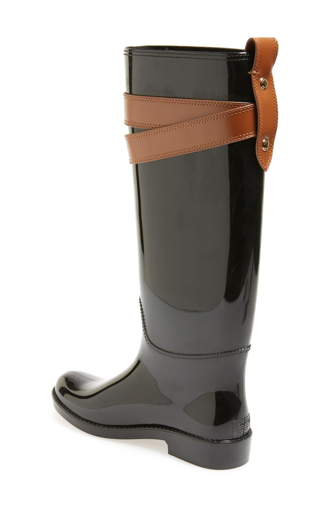 Alternate Image 2  - COACH 'Talia' Waterproof Rain Boot (Women)