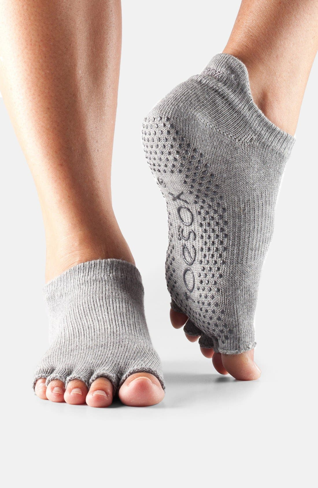 ToeSox Low Rise Half-Toe Gripper Socks