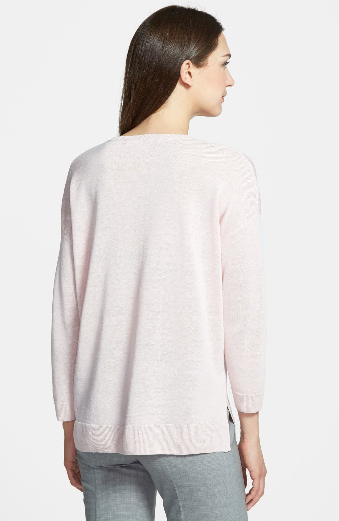 Alternate Image 2  - Nordstrom Collection 'Cerchio' V-Neck Pullover