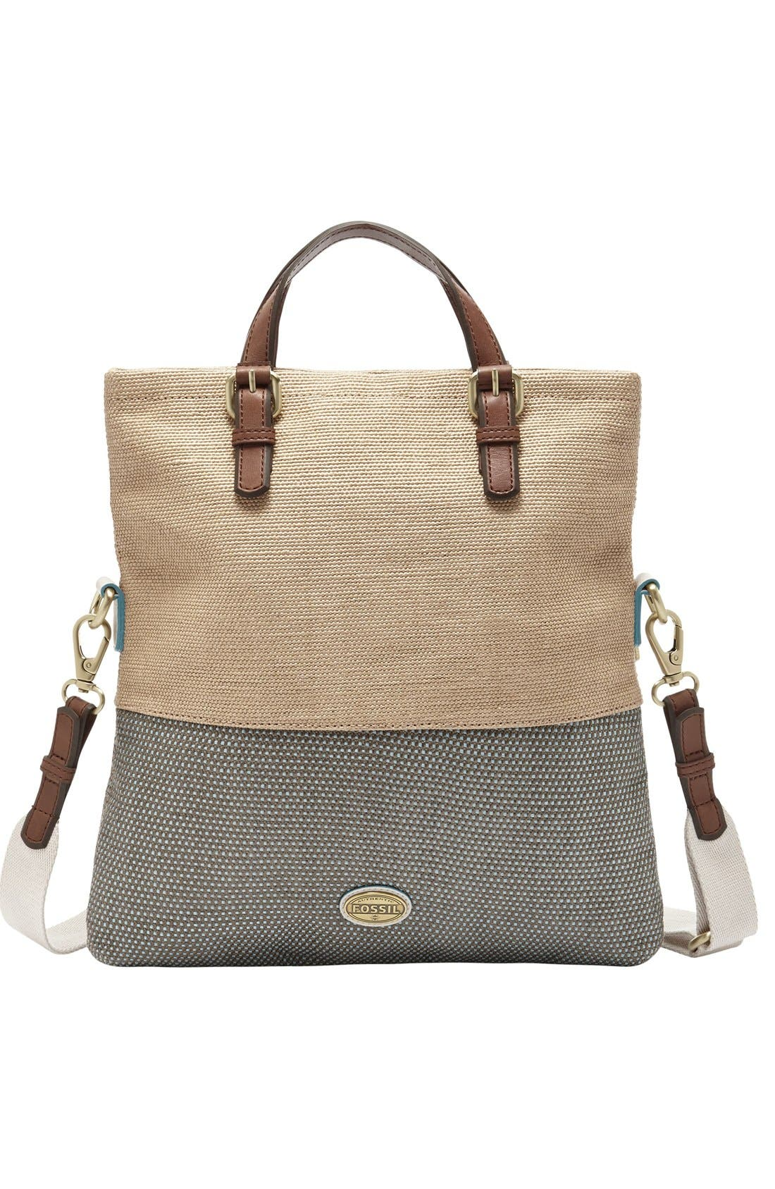 Alternate Image 3  - Fossil 'Explorer' Straw Tote