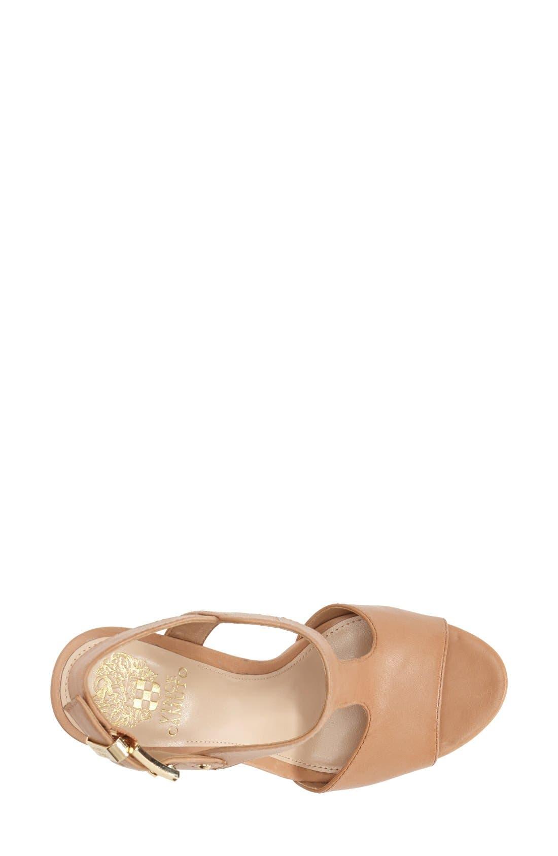 Alternate Image 3  - Vince Camuto 'Mathis' T-Strap Wedge Sandal (Women)