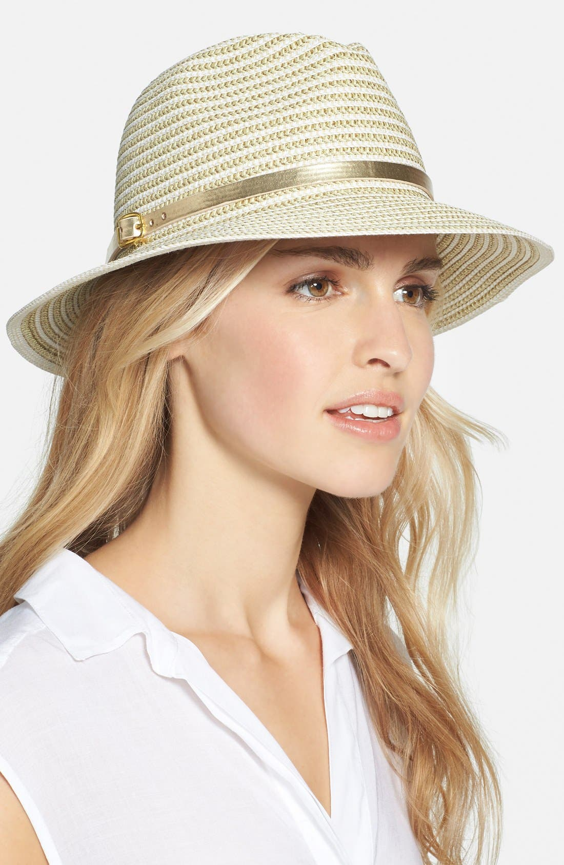 Alternate Image 1 Selected - August Hat Metallic Trim Hat