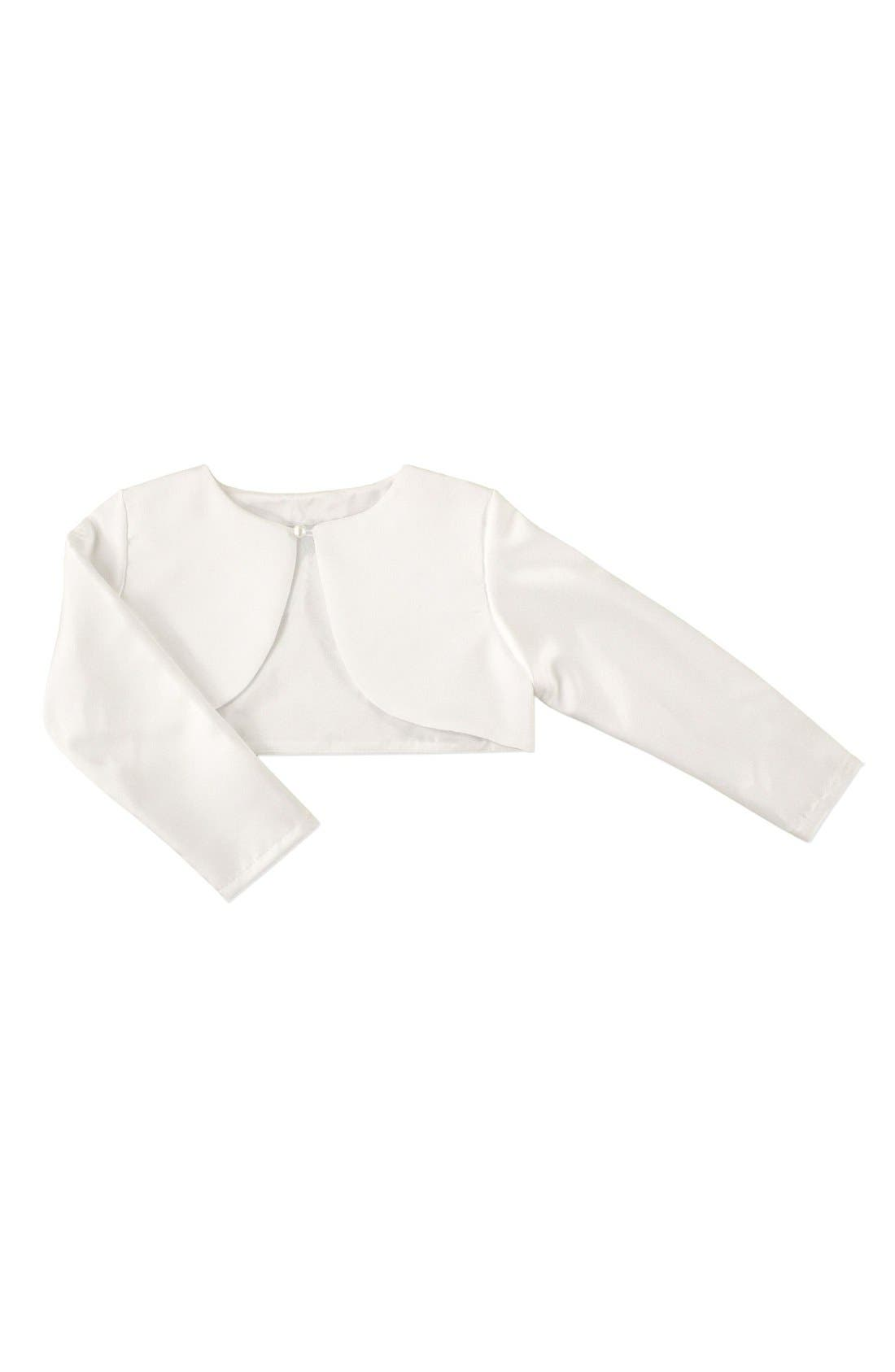 Sorbet Long Sleeve Satin Bolero (Toddler Girls, Little Girls & Big Girls)