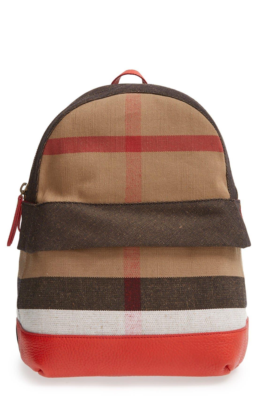 Main Image - Burberry 'Tiller Check' Backpack