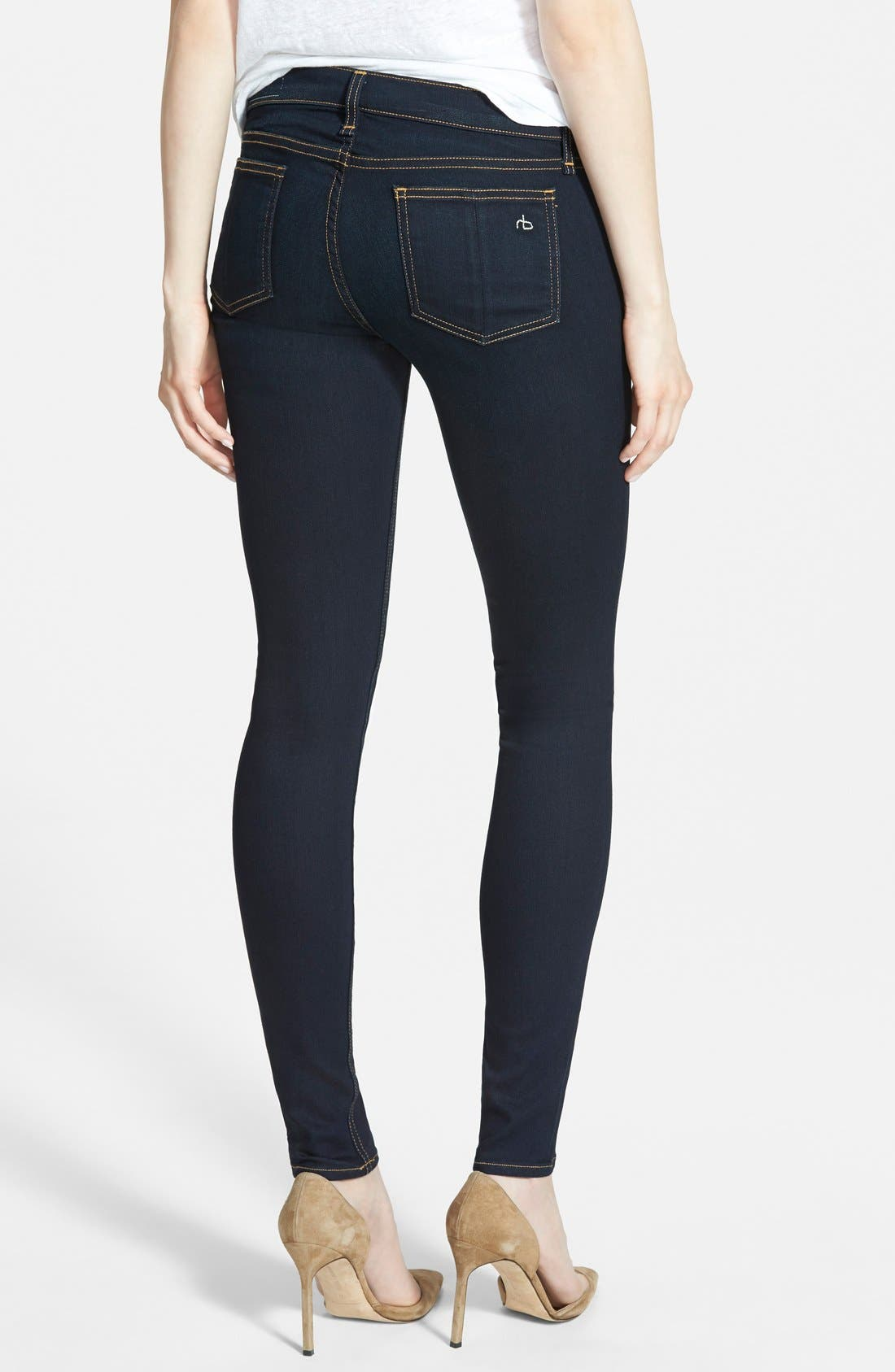 Alternate Image 2  - rag & bone/JEAN 'The Skinny' Mid Rise Jeans (Coventry)