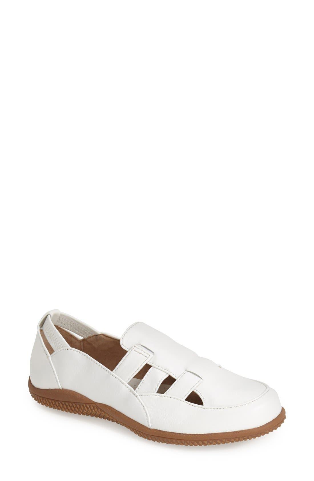 SoftWalk® 'Hampton' Leather Strap Loafer (Women)