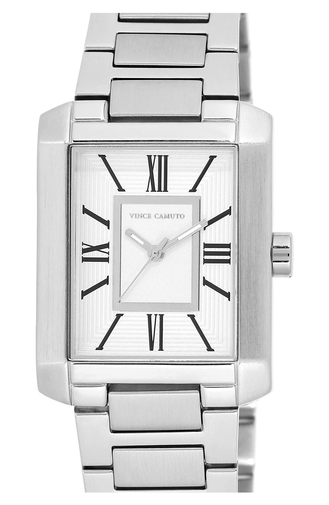 Main Image - Vince Camuto Rectangle Bracelet Watch, 40mm