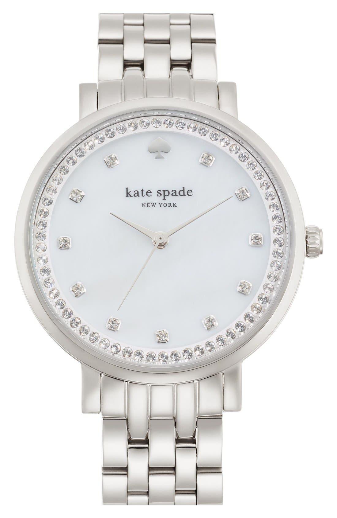Main Image - kate spade new york 'monterey' crystal dial bracelet watch, 38mm