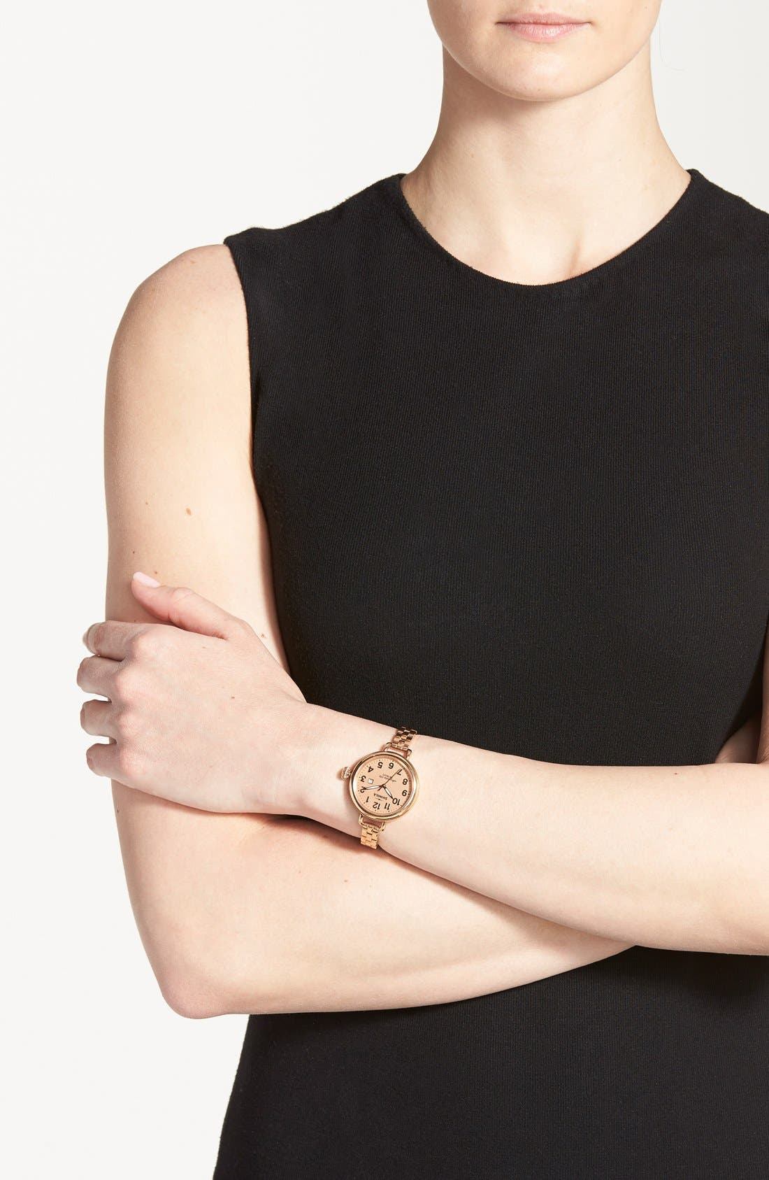 Alternate Image 5  - Shinola 'The Birdy' Bracelet Watch, 34mm