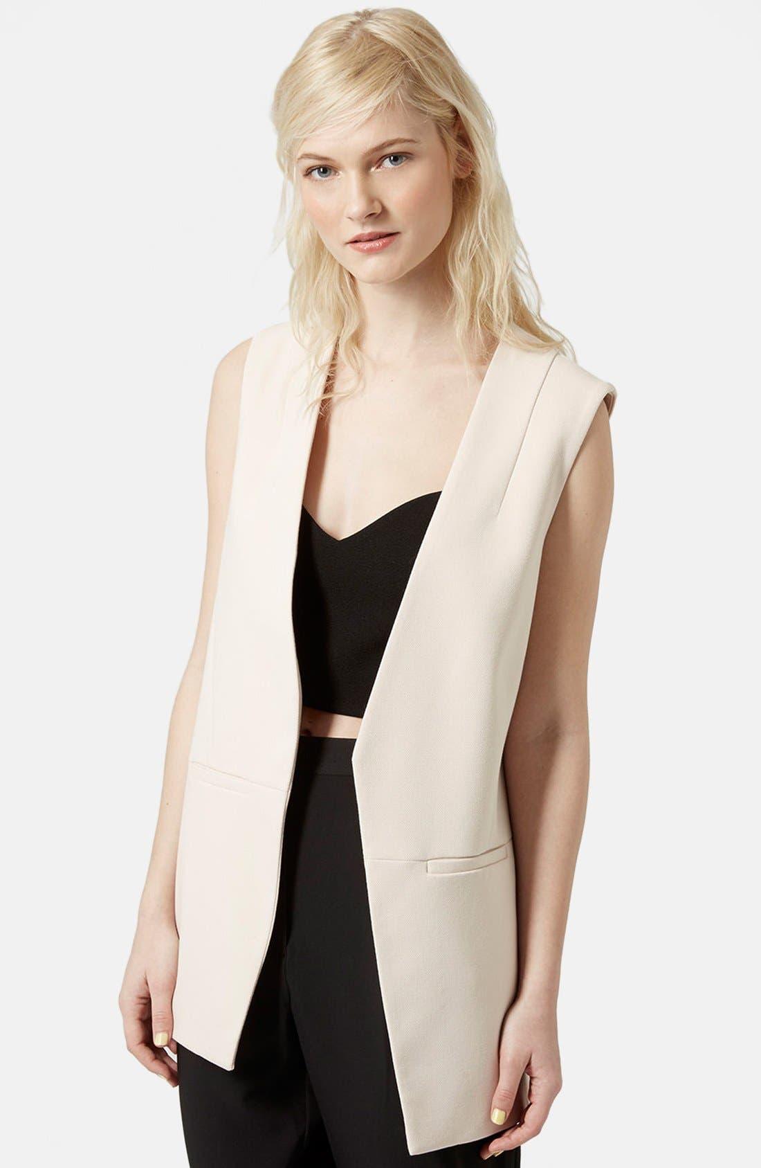 Alternate Image 1 Selected - Topshop 'Molly' Longline Vest
