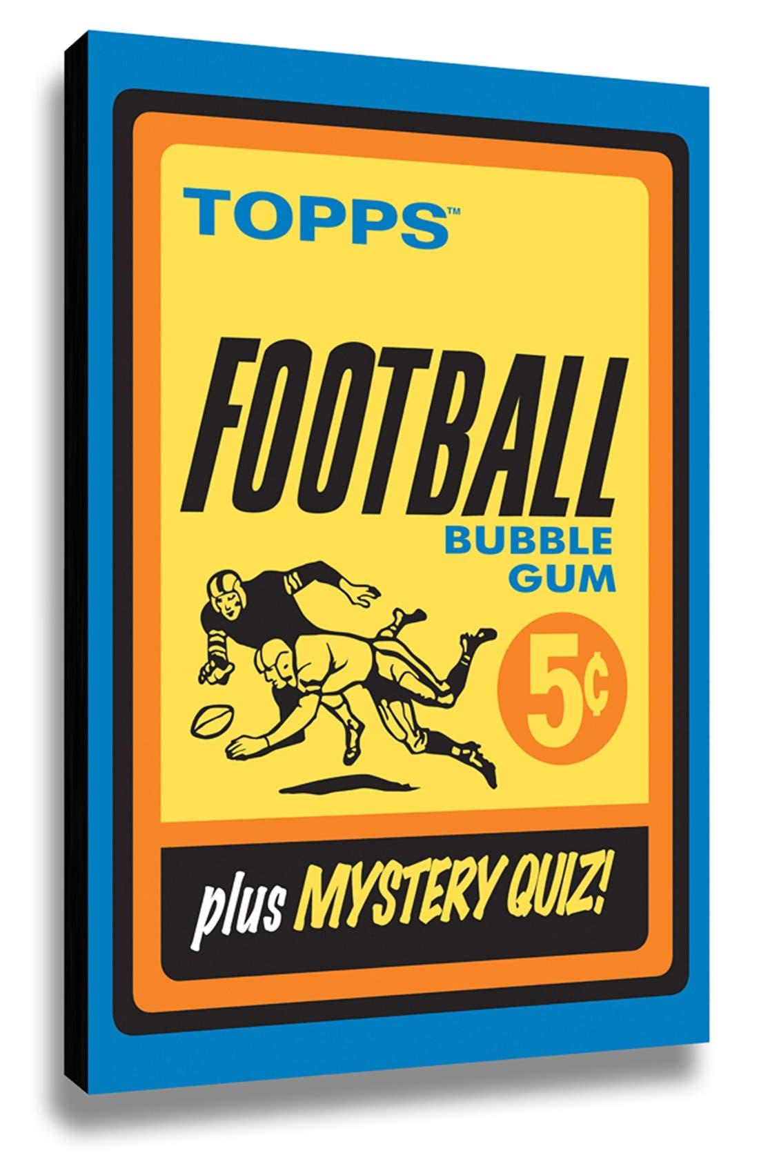 LAMP-IN-A-BOX 'Topps Football 1963 Bubblegum Wrapper' Wall Art