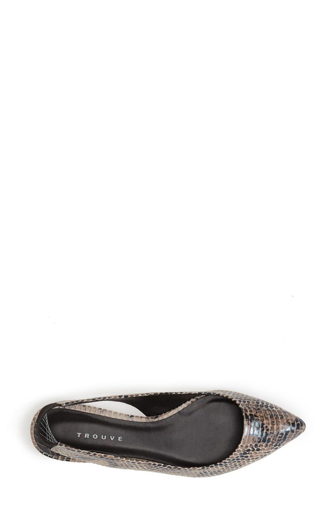Alternate Image 3  - Trouvé 'Mona' Pointy Toe Leather Flat (Women)