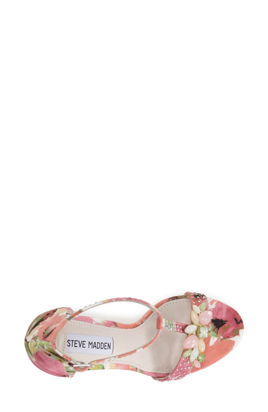 Alternate Image 3  - Steve Madden 'Shawna' Embellished T-Strap Sandal (Women)