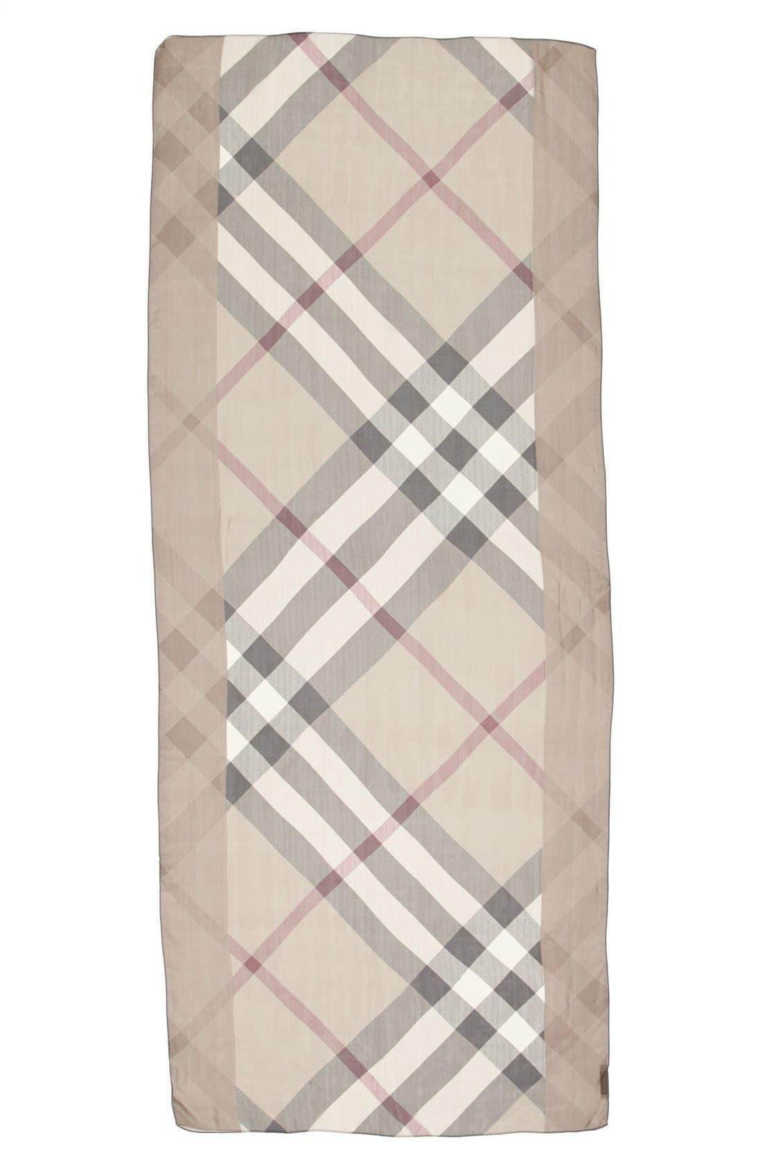 Alternate Image 2  - Burberry Check Print Silk Scarf