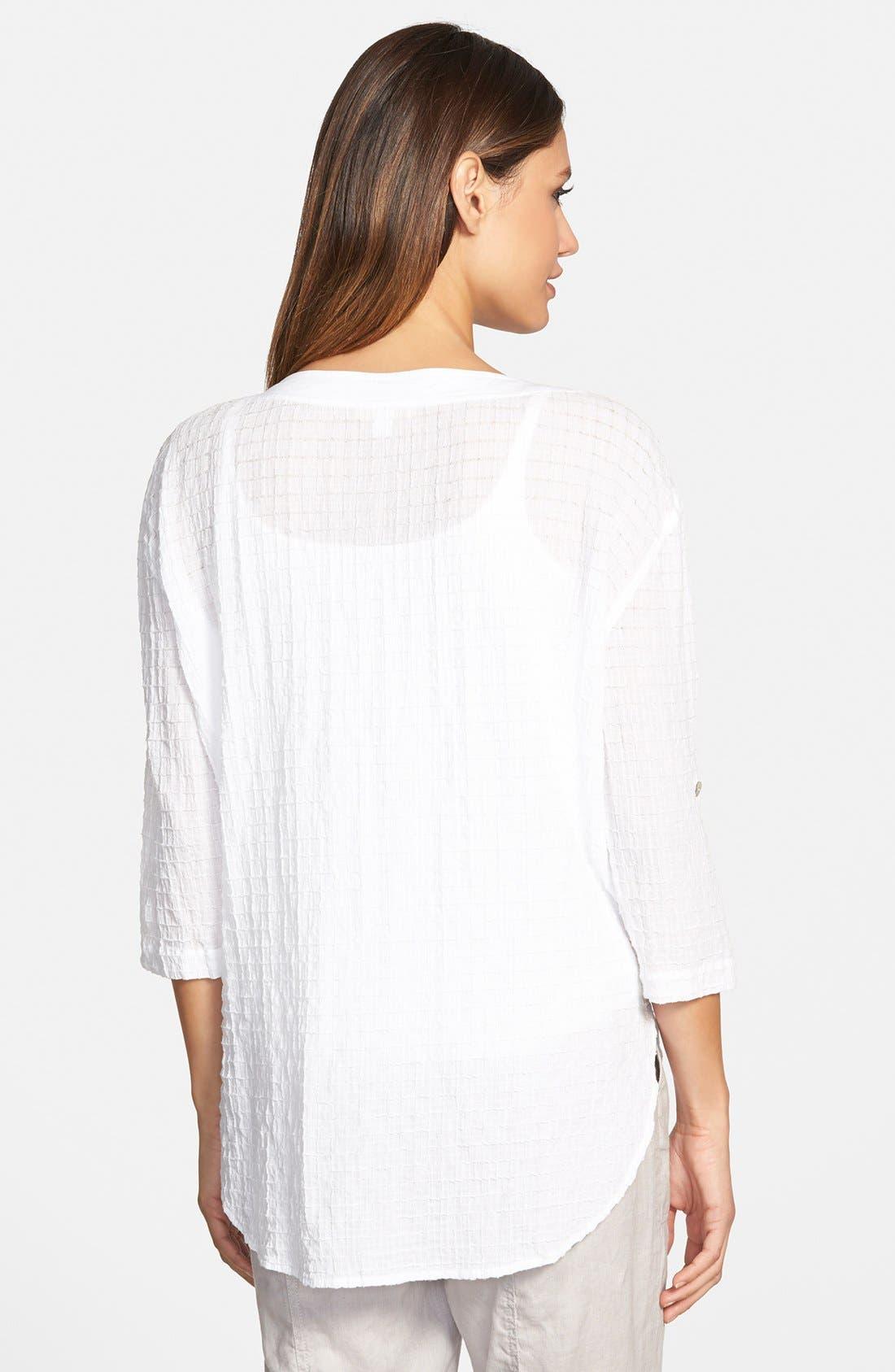 Alternate Image 2  - Eileen Fisher Bateau Neck Shirt (Regular & Petite)