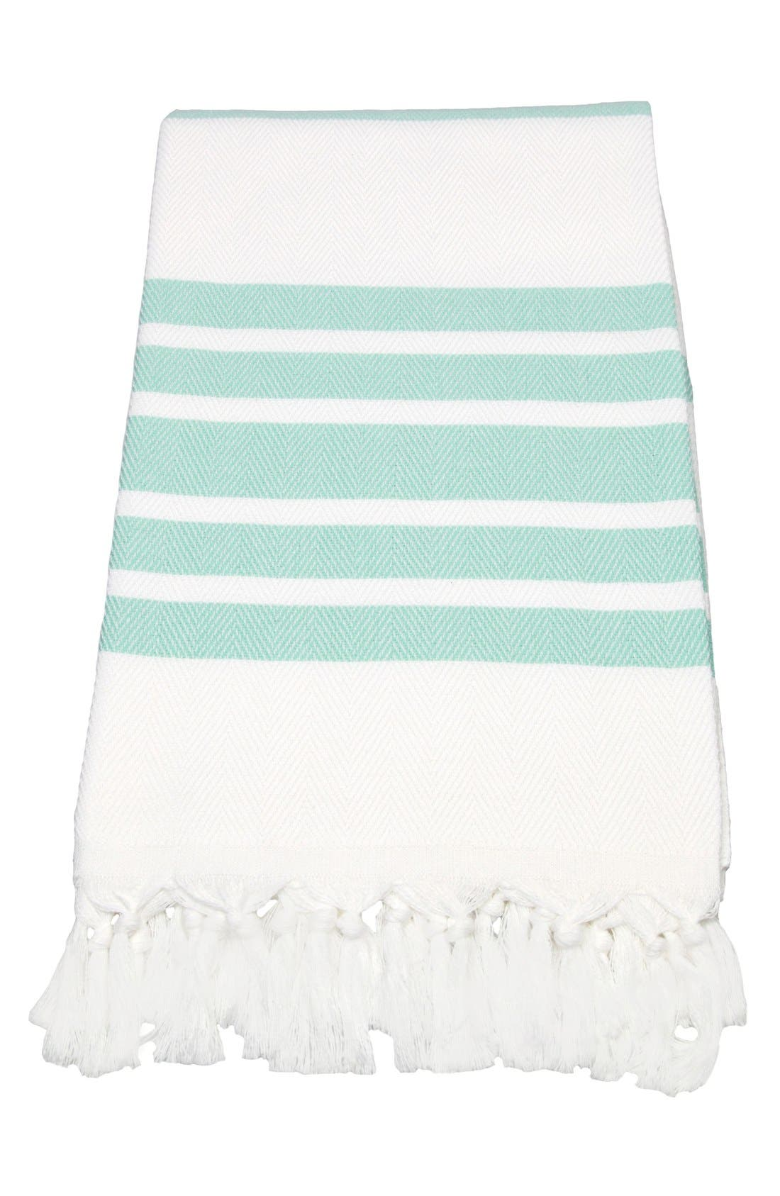 Main Image - Linum Home Textiles Herringbone Striped Turkish Pestemal Towel