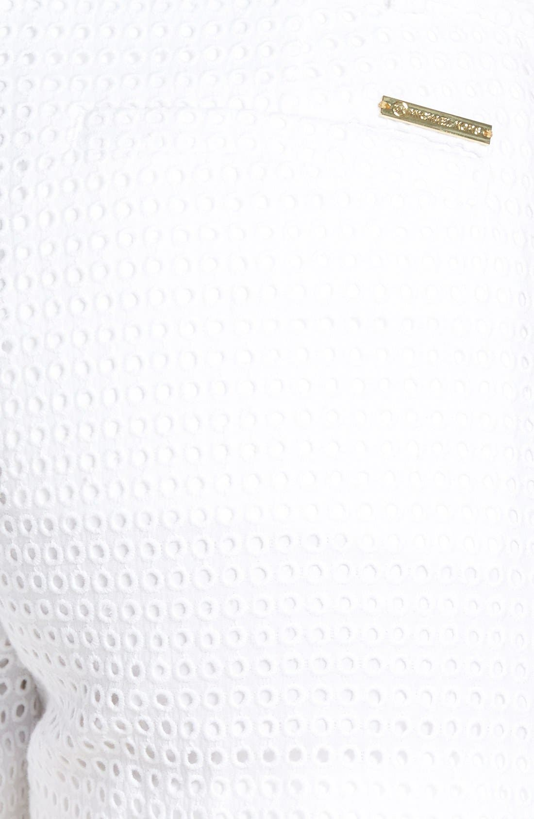 Alternate Image 3  - MICHAEL Michael Kors Cotton Eyelet Short Shorts