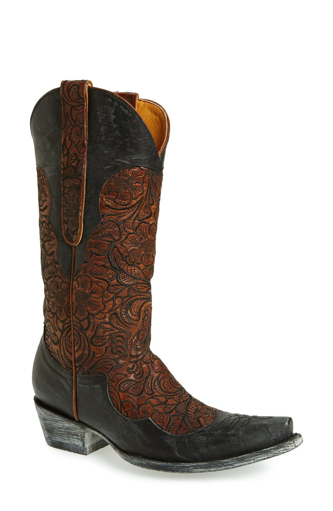Alternate Image 1 Selected - Old Gringo 'Feita' Floral Embroidered Leather Boot (Women)