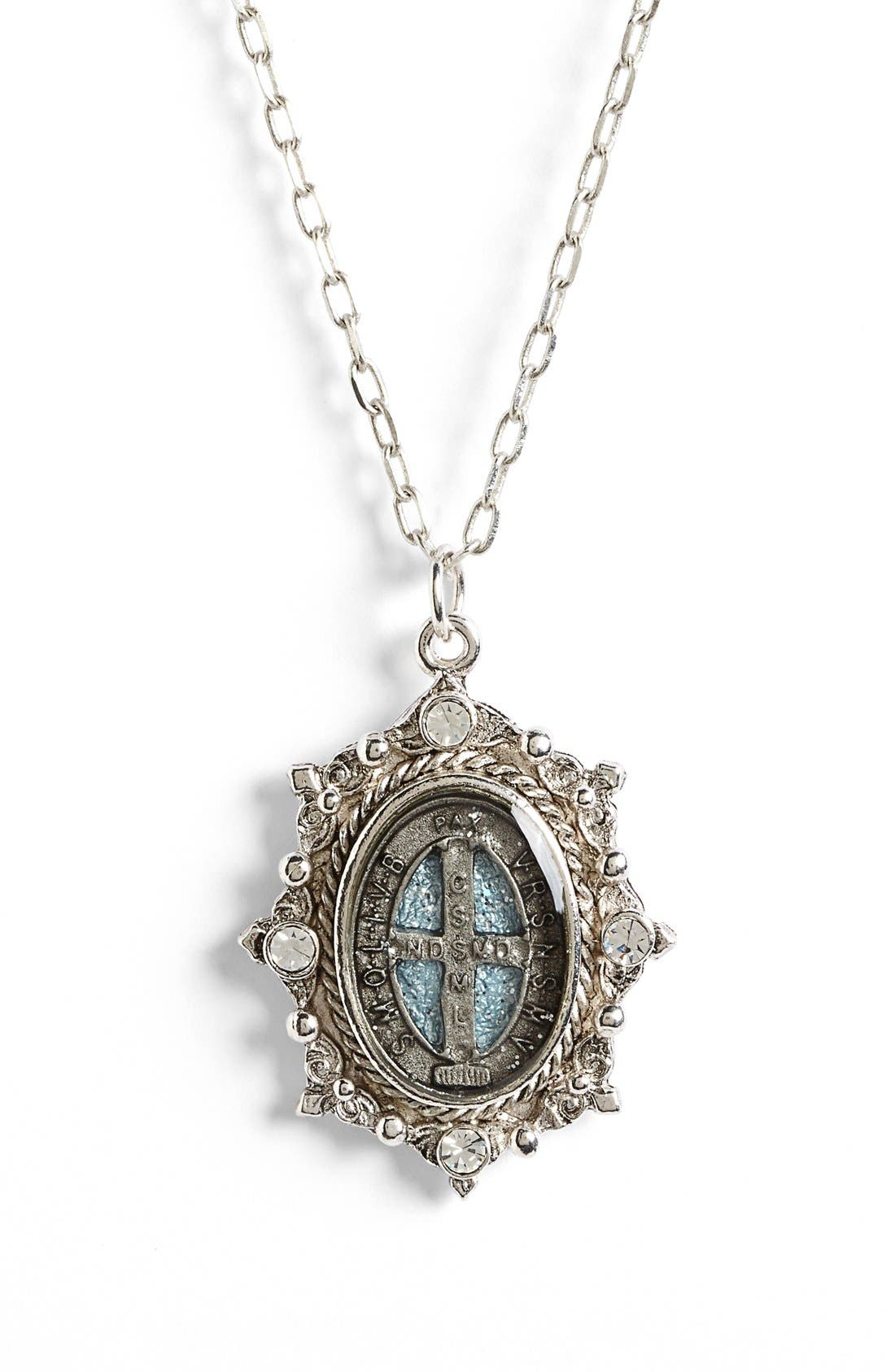 Alternate Image 2  - Virgins Saints & Angels 'San Benito Lucia' Charm Necklace (Nordstrom Exclusive)